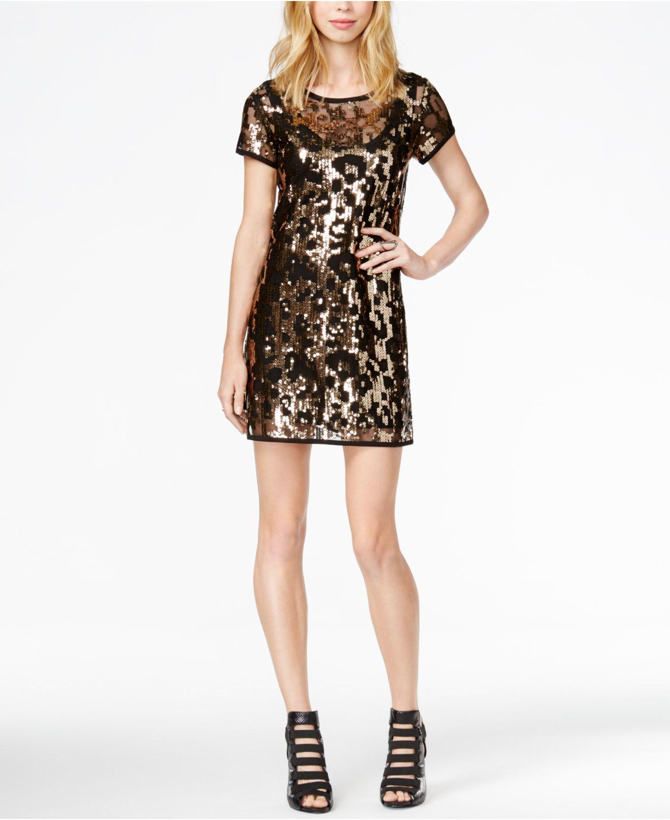 Guess gold sequin dress
