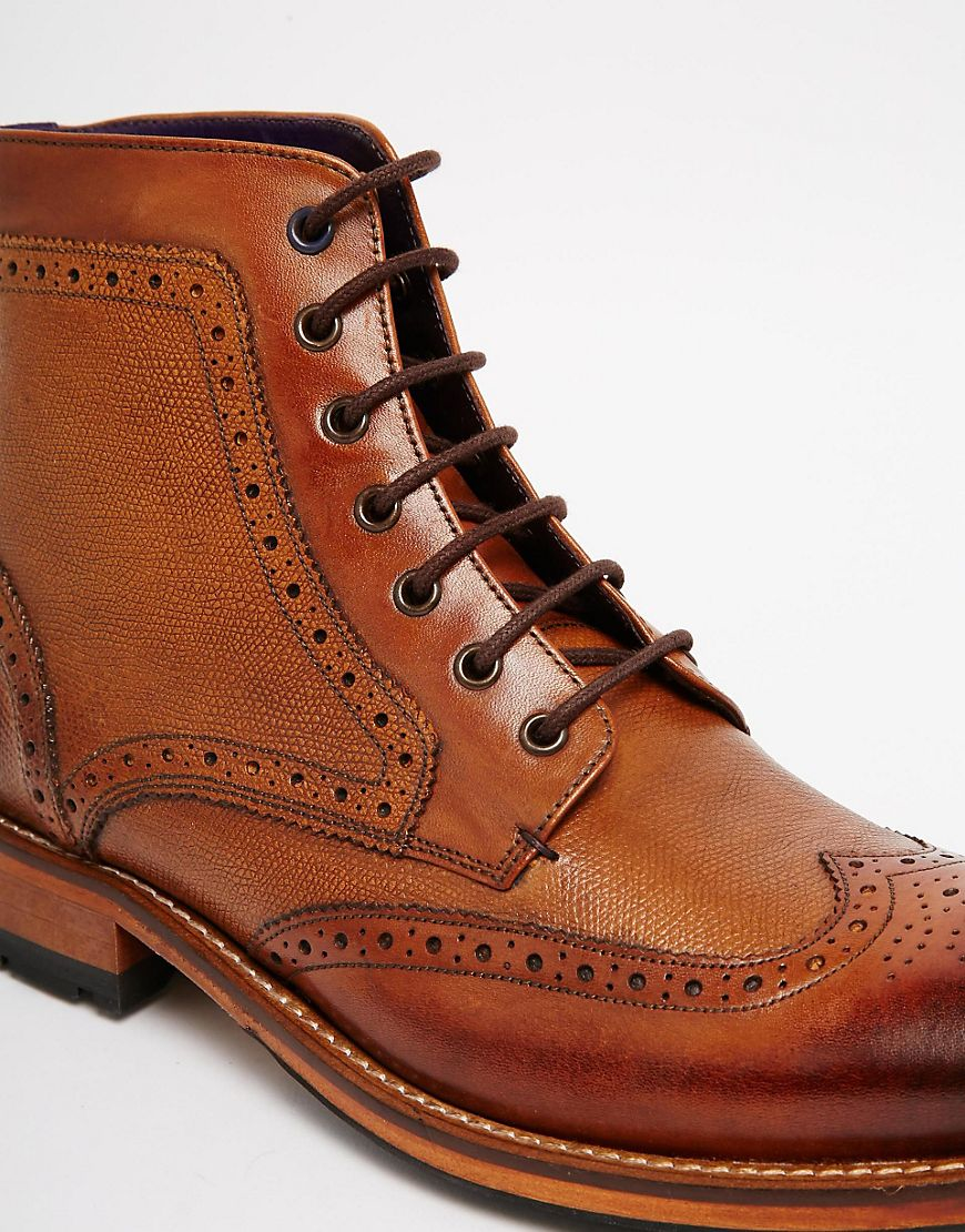 8e8088b5c Lyst - Ted Baker Sealls Brogue Boots - Brown in Brown for Men