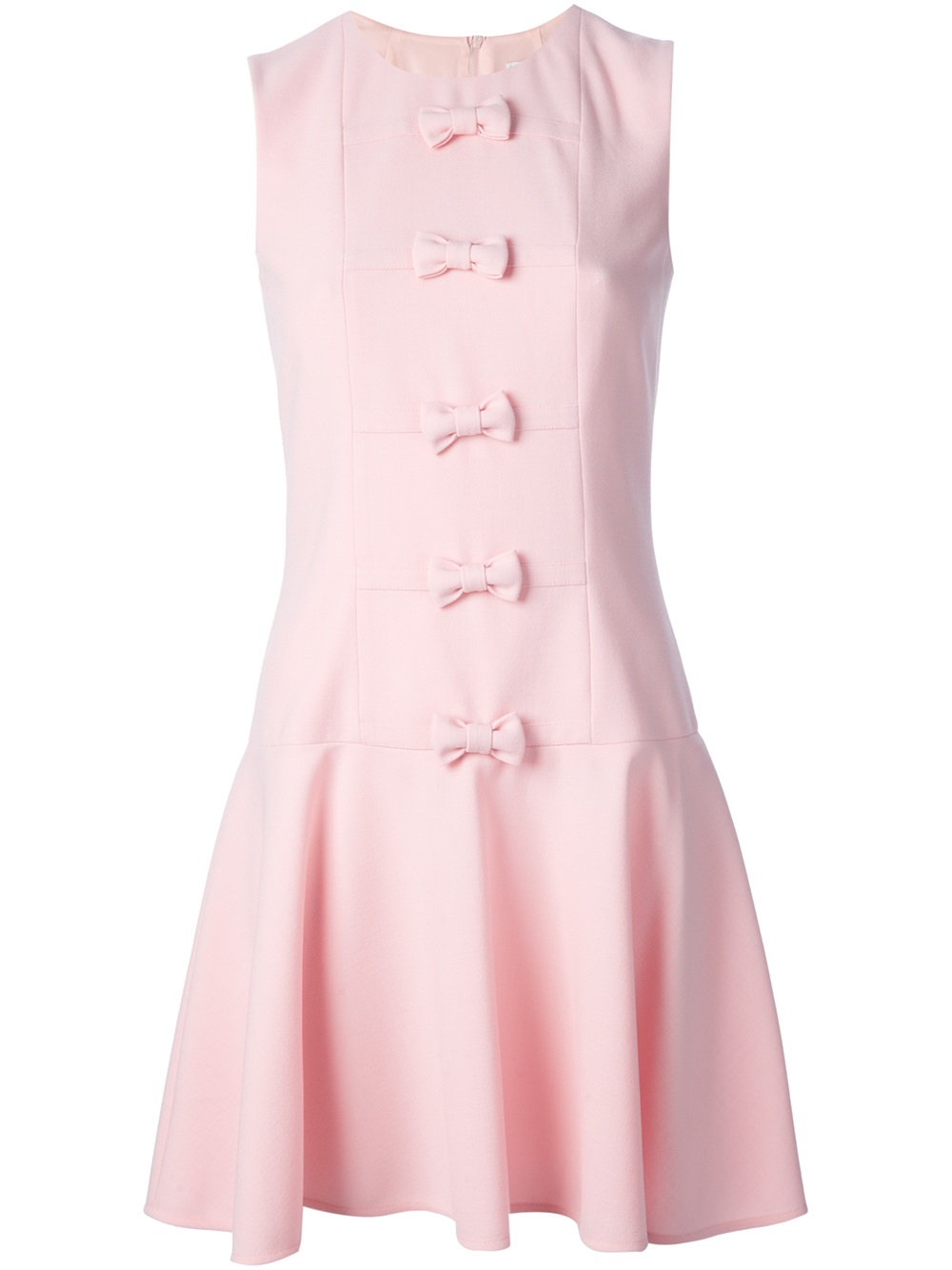 Red Valentino Bow Detail Shift Dress In Pink Lyst