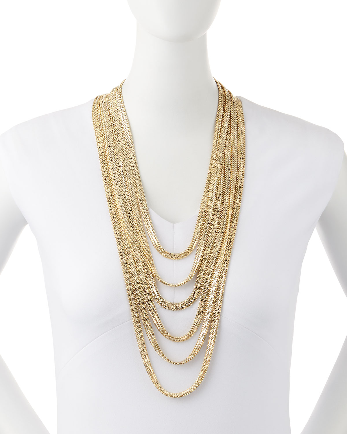 Iliade Gold-Dipped Tiered Necklace Rosantica Hy9hJ