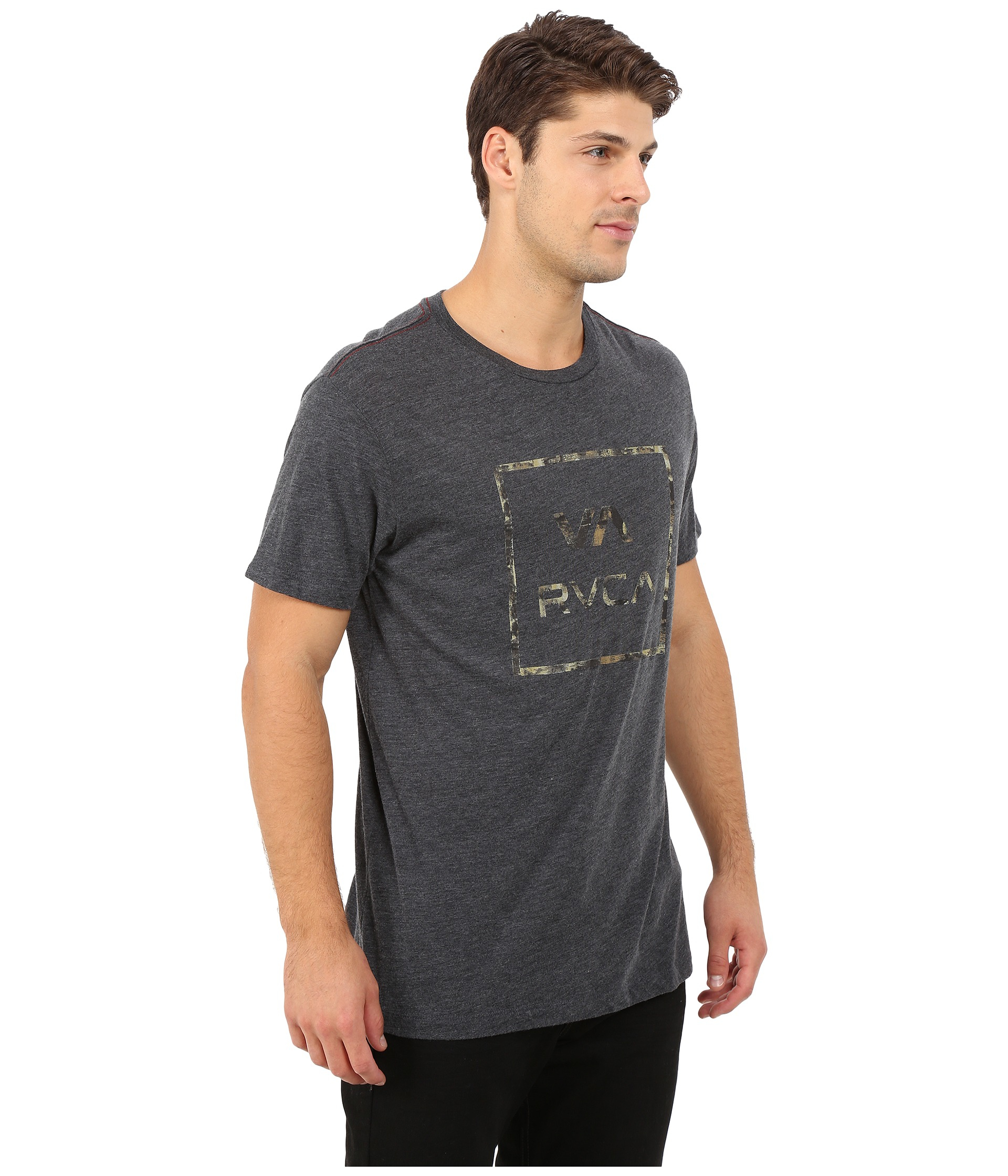 0a967a837cc Lyst - RVCA Shelton All The Way Tee in Black for Men