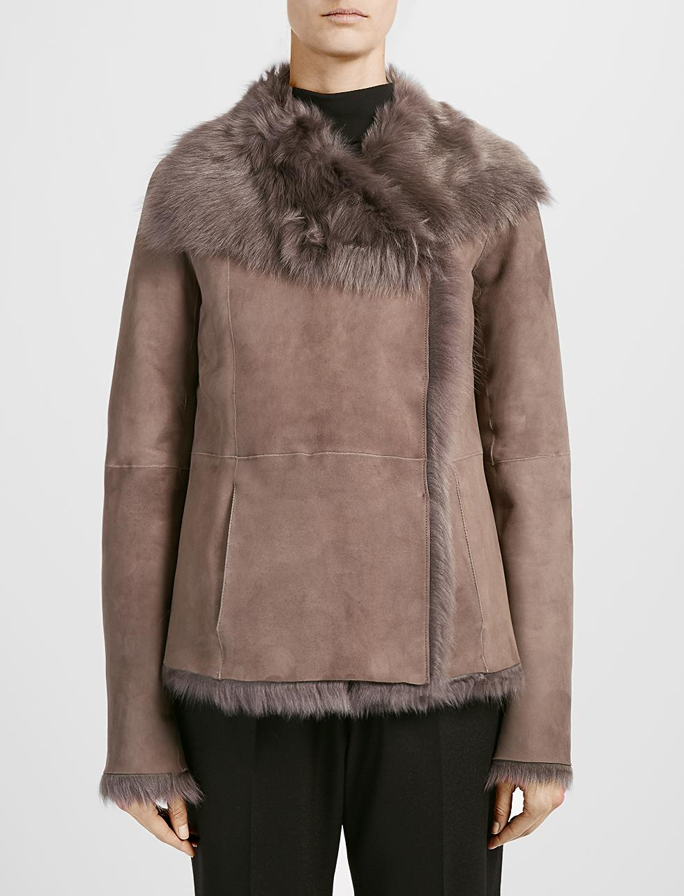 Joseph Toscana Anais Sheepskin Short Coat in Brown | Lyst