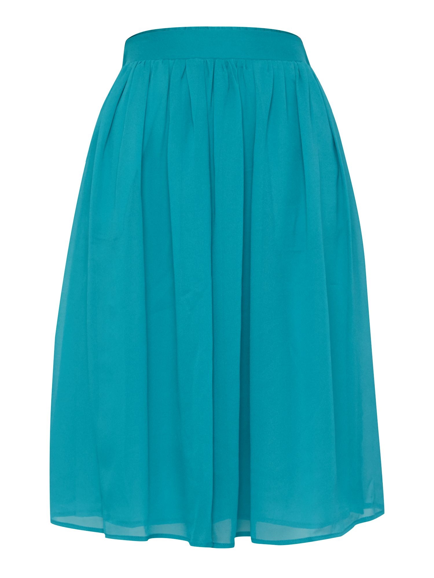y a s pleated midi skirt in teal green