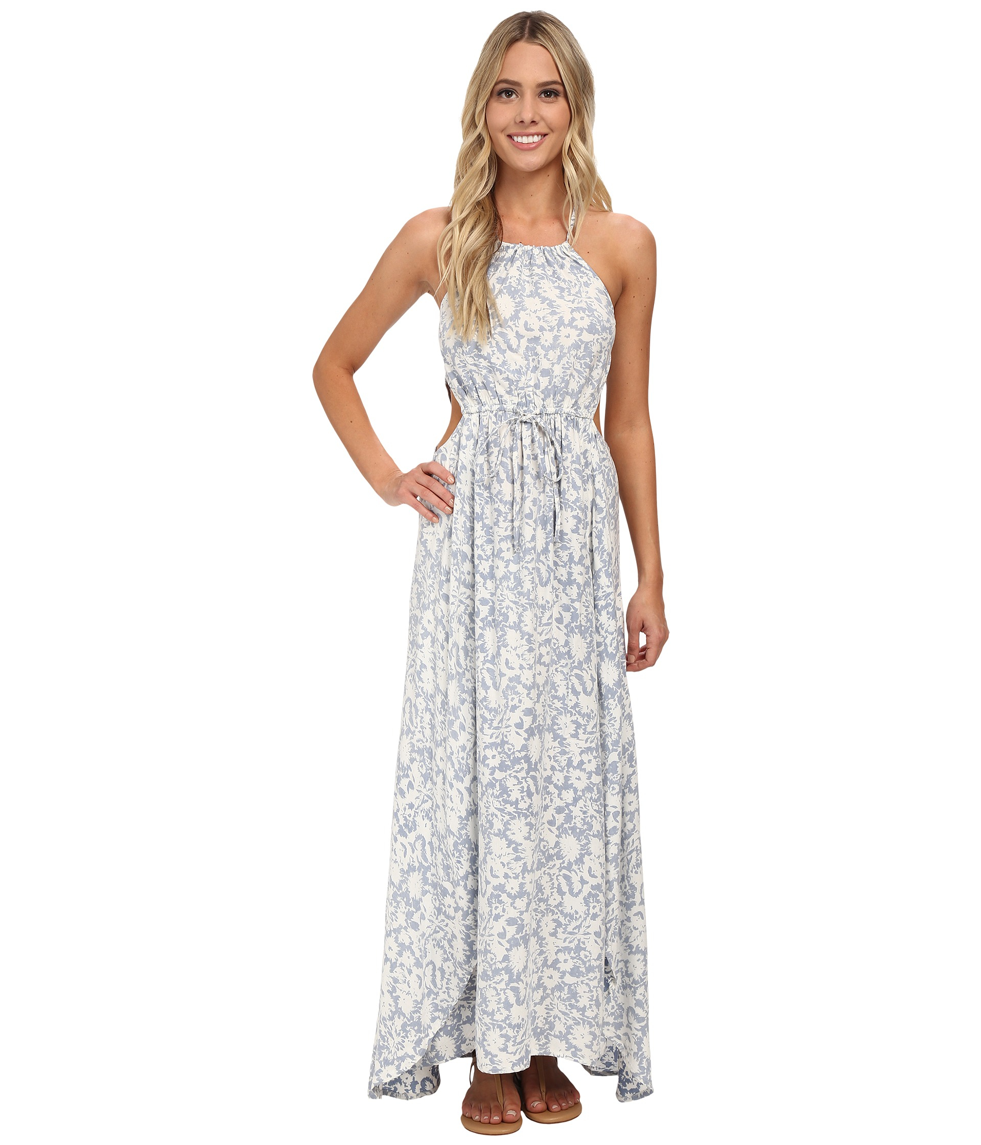 8de5dffe669 Billabong Sounds Of The Sea Maxi Dress in Blue - Lyst