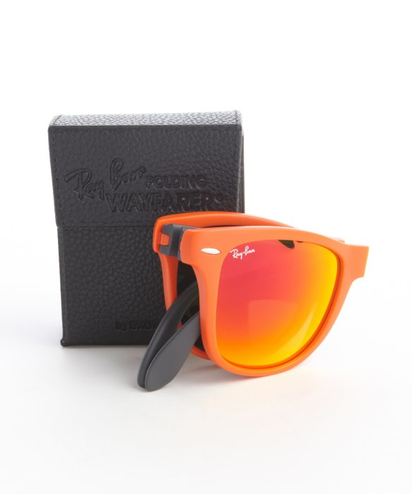 920f6cfd30c ... discount code for lyst ray ban orange and grey matte acrylic folding  wayfarer dc213 44bc7