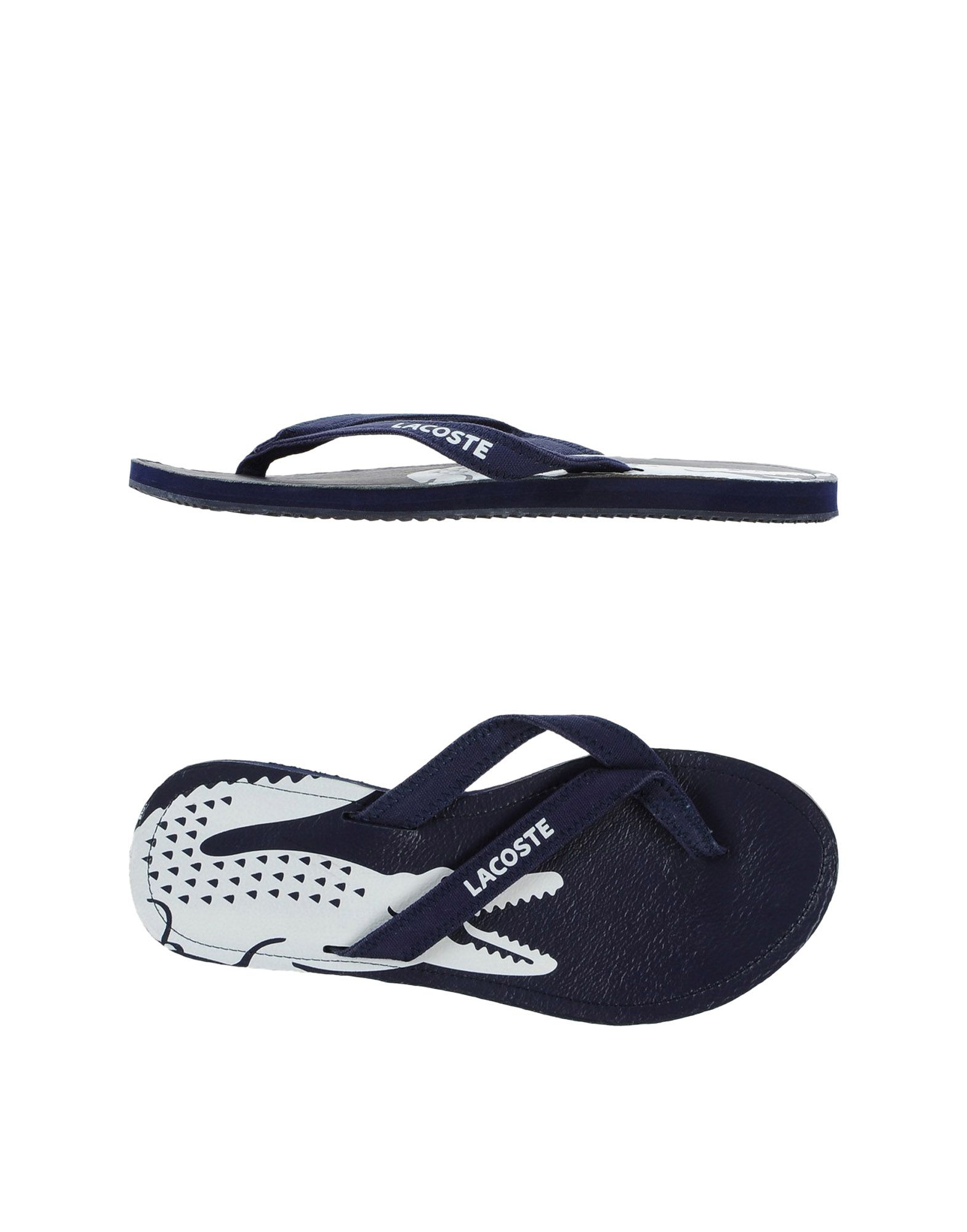 2cdb7602998d10 Lacoste Thong Sandal in Blue for Men - Lyst