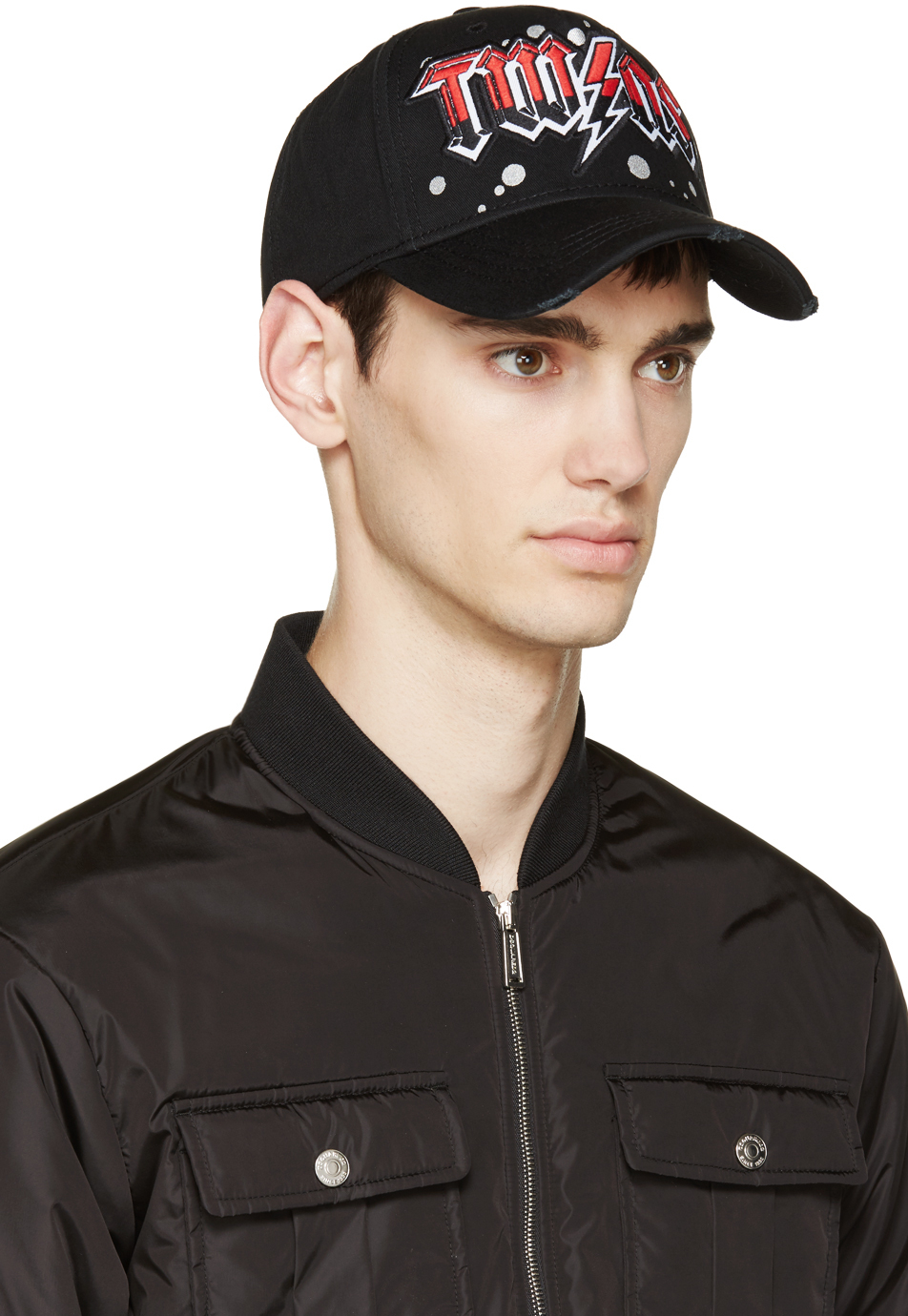 Lyst - DSquared² Black Twins Cap in Black for Men a6f1e9e3d61