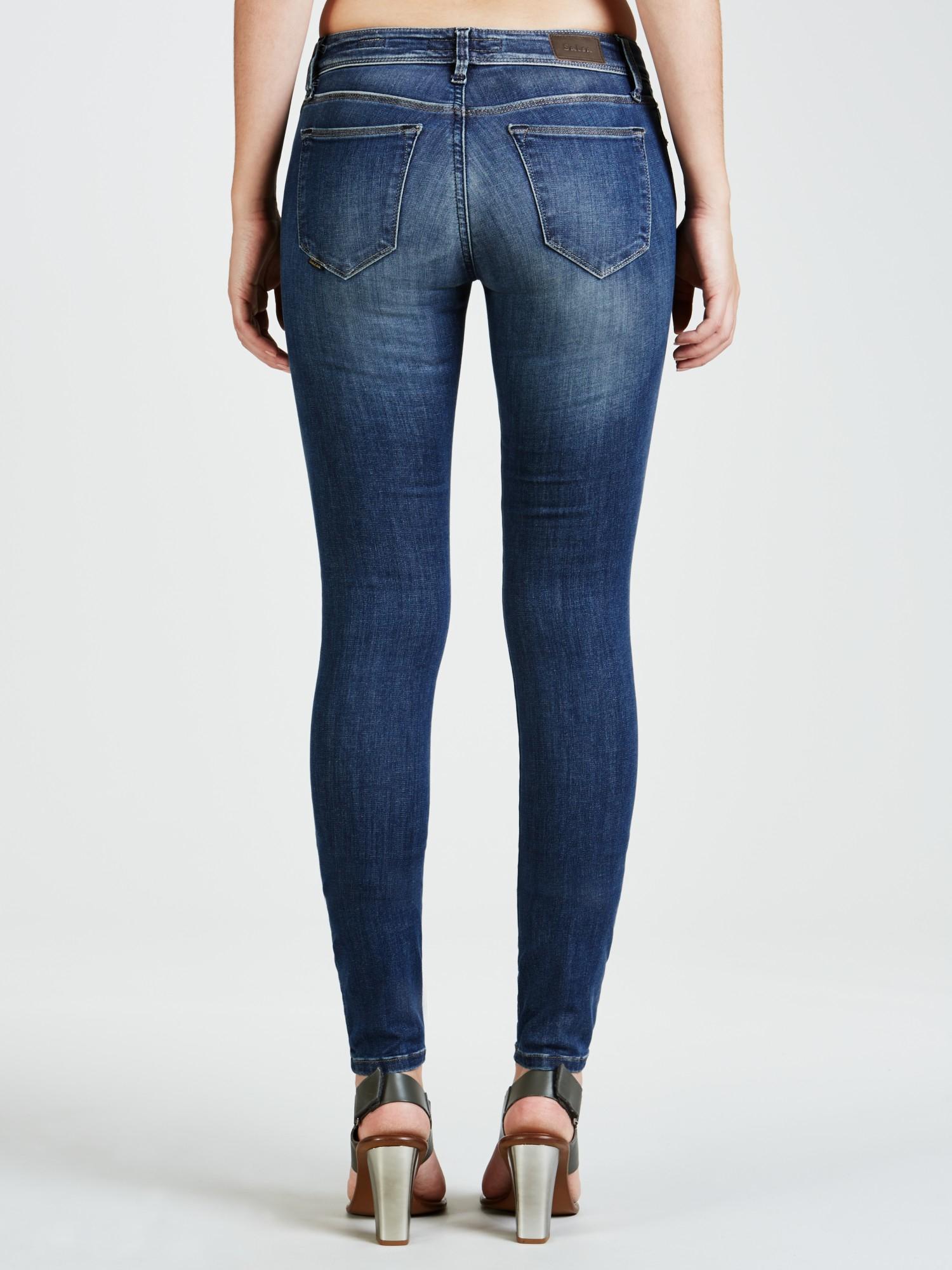 lyst salsa colette skinny jeans in blue. Black Bedroom Furniture Sets. Home Design Ideas