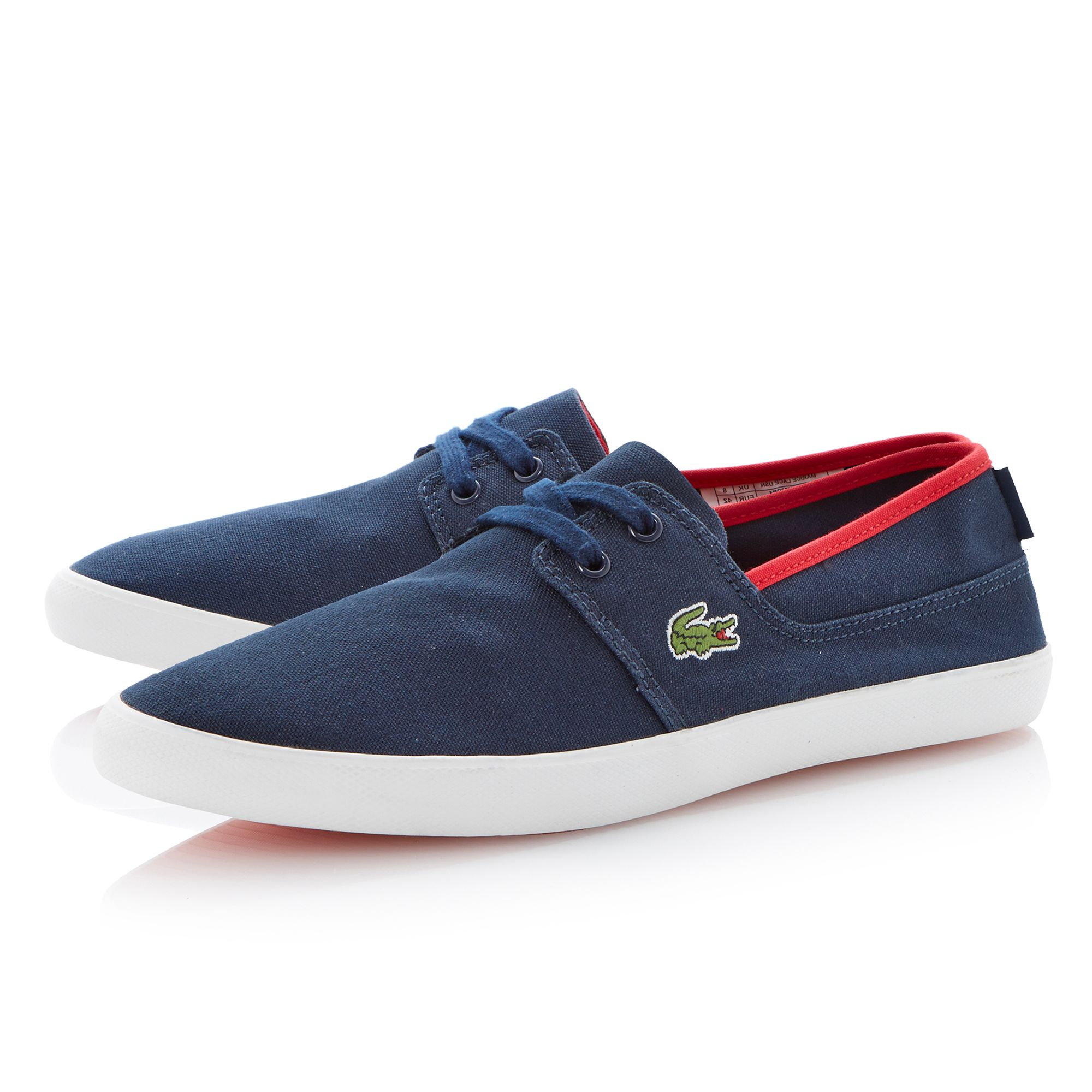 Lacoste Marice Lace Up Boat Style Shoes In Blue For Men Lyst
