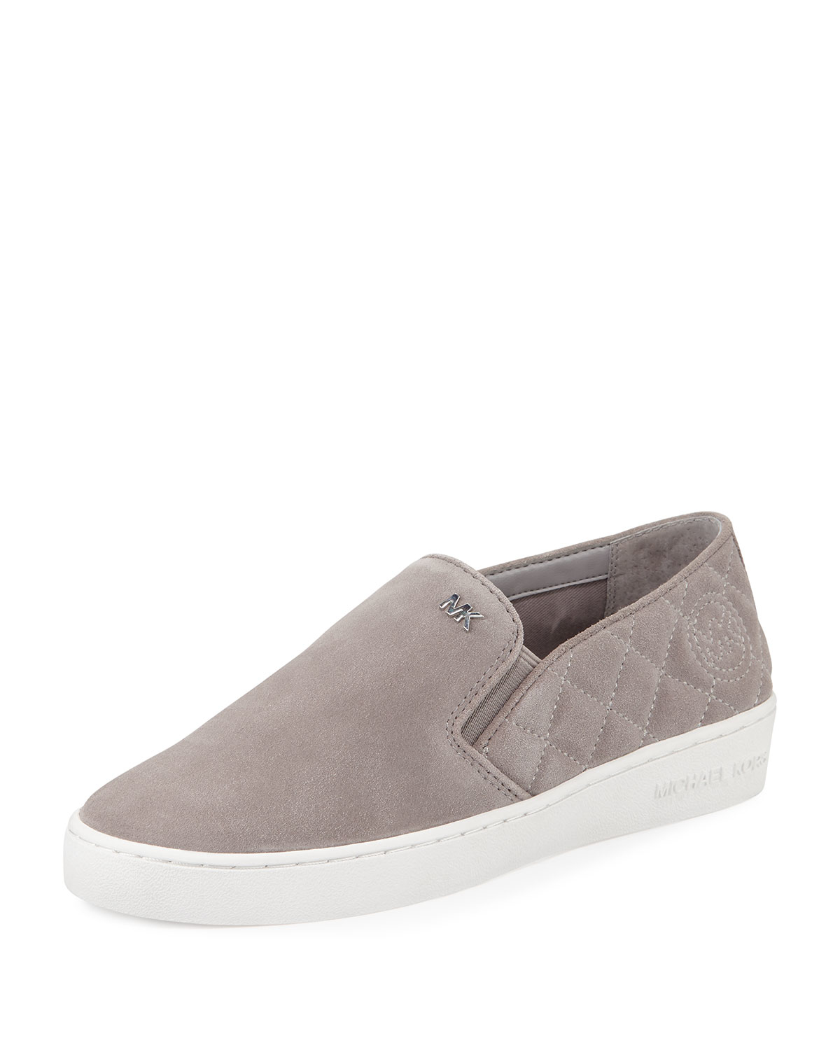 Michael Michael Kors Keaton Quilted Suede Slip On Sneakers