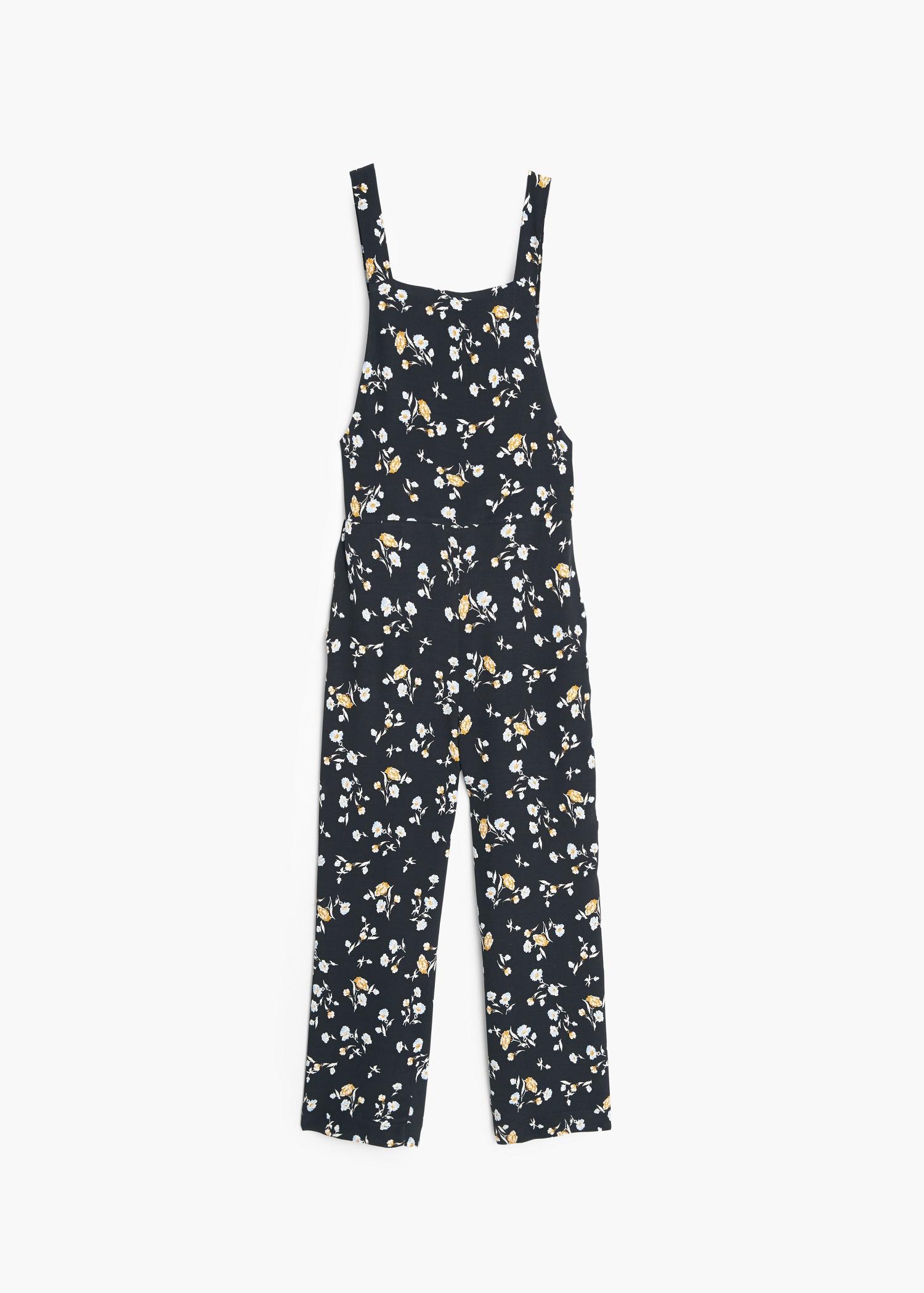 63e79d4ac5 Lyst - Mango Floral Print Jumpsuit in Blue
