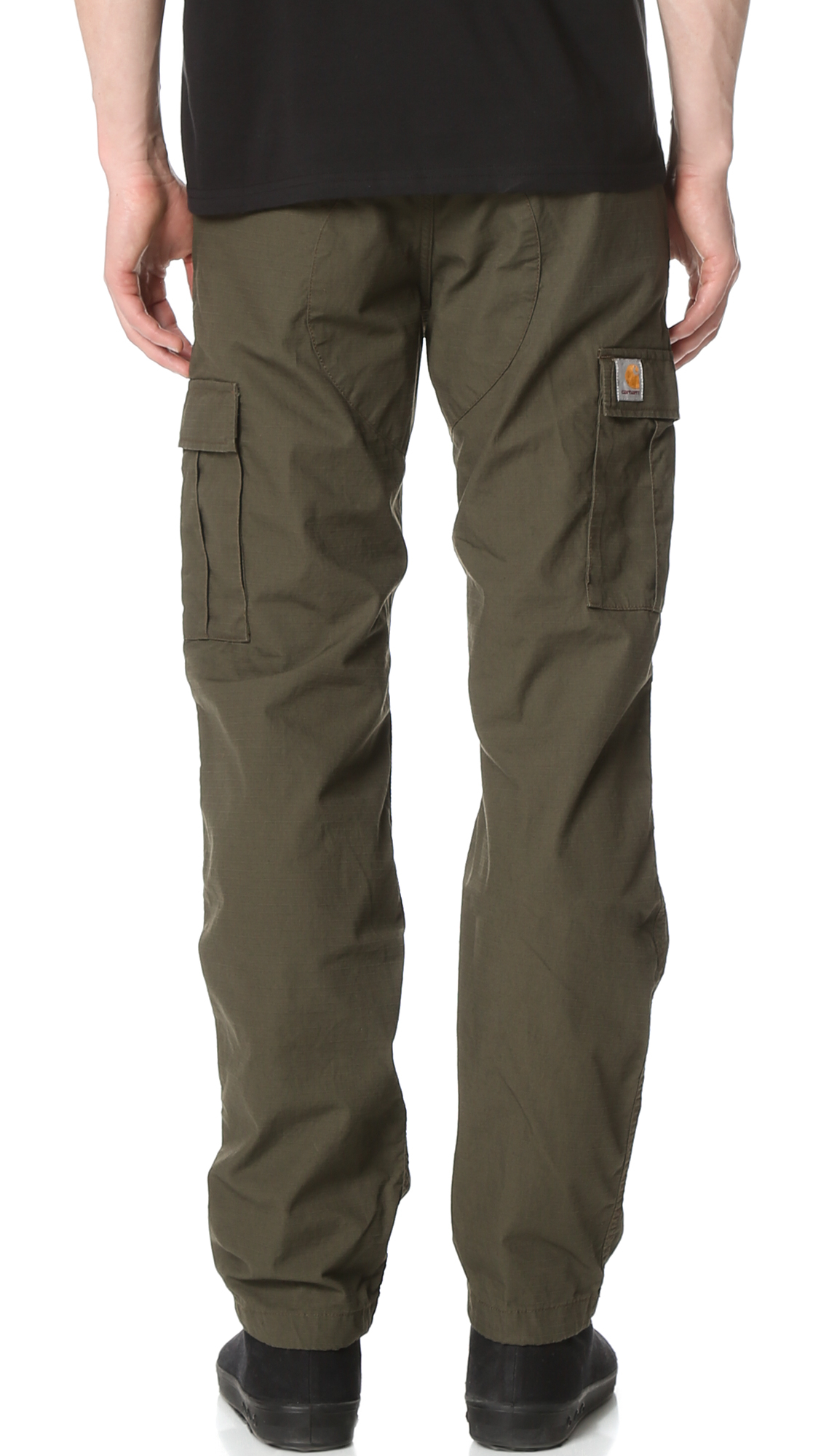 carhartt wip rinsed aviation pants in green for men lyst. Black Bedroom Furniture Sets. Home Design Ideas