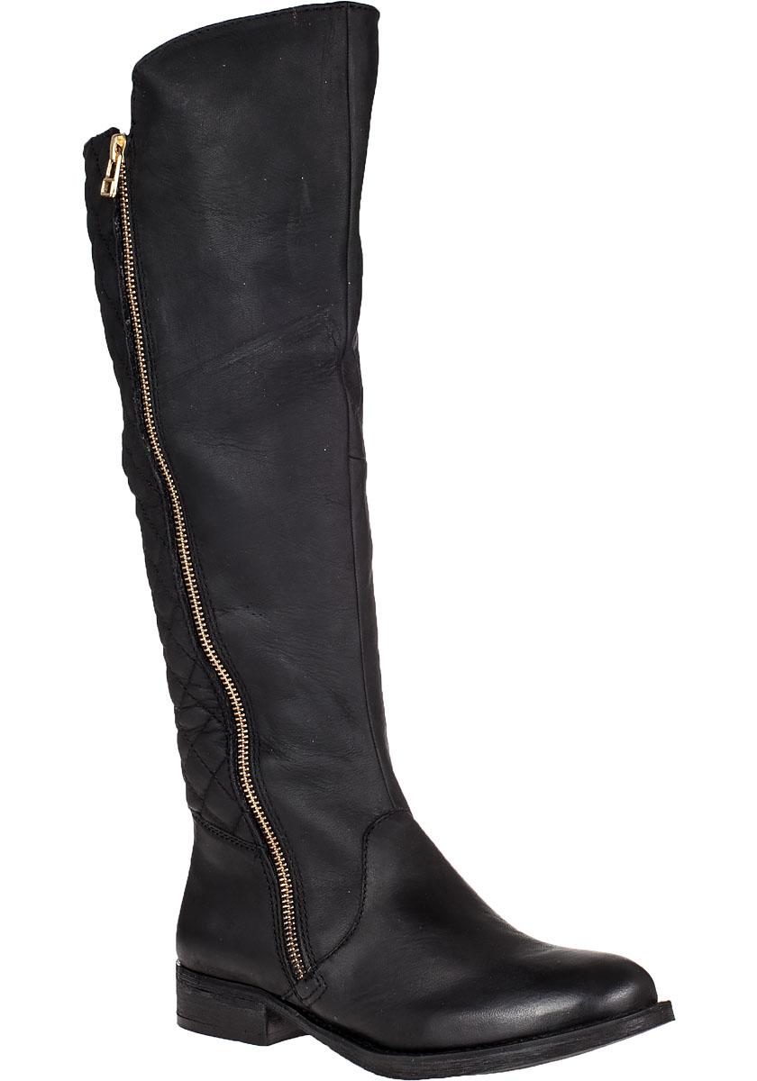 steve madden northsde boot black leather in black lyst
