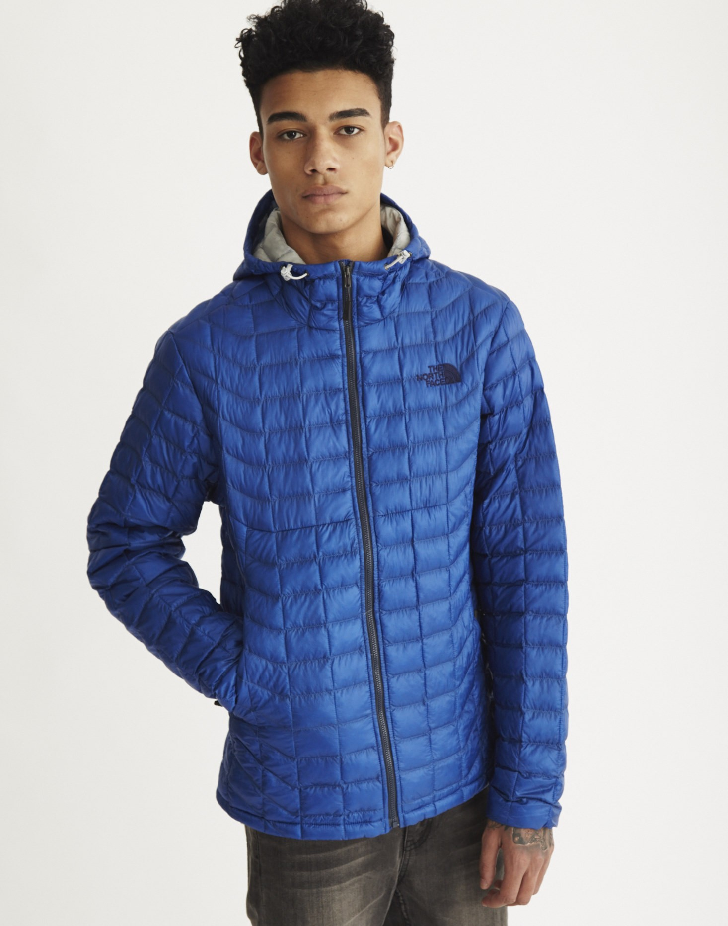 the north face thermoball hoodie in blue for men lyst. Black Bedroom Furniture Sets. Home Design Ideas