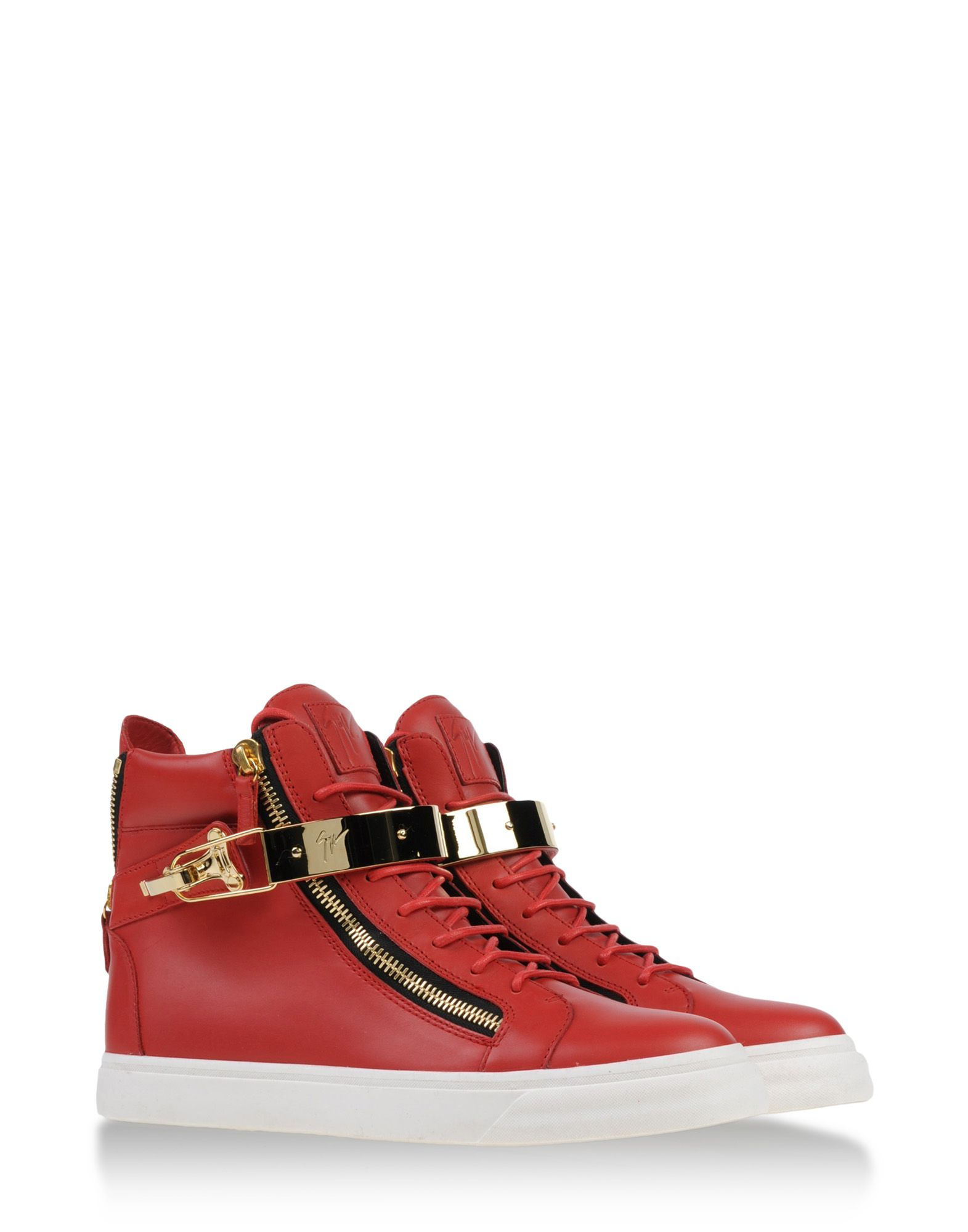 a46b04e50d4c5 Giuseppe zanotti High-top Sneakers in Red for Men   Lyst