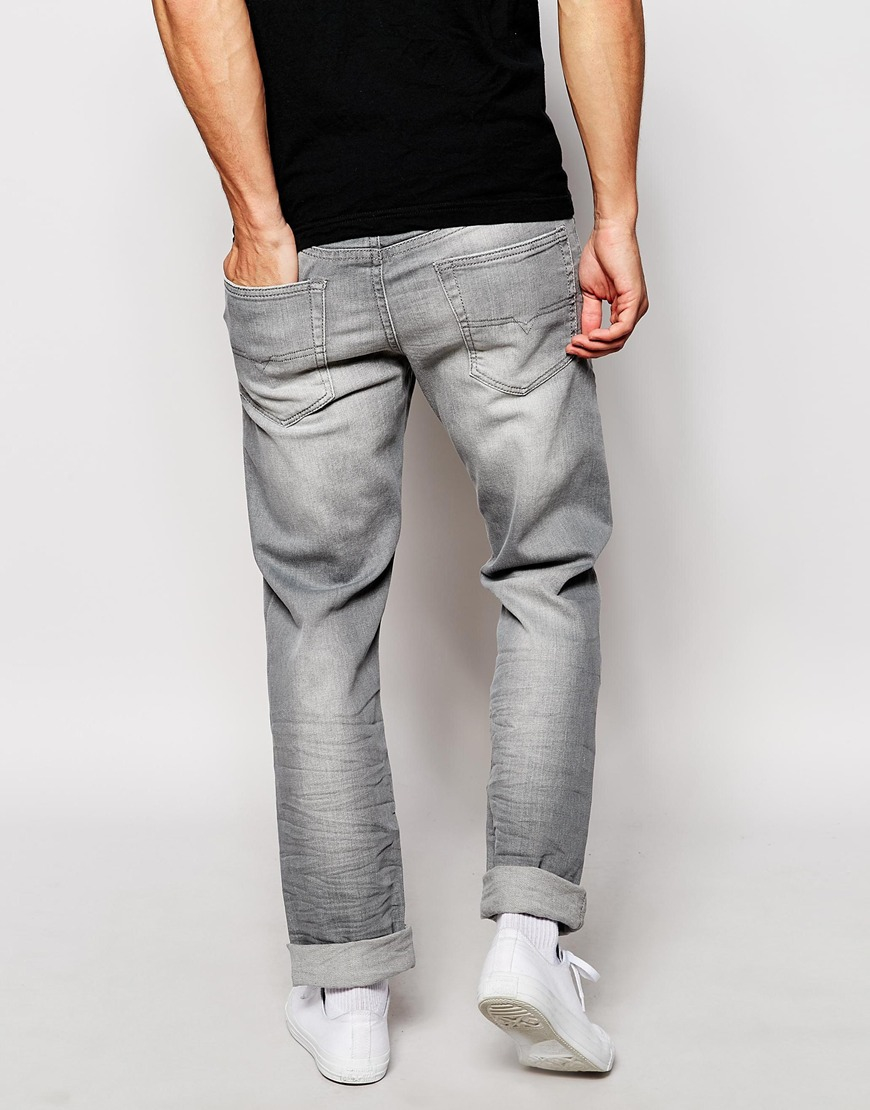 Diesel Jeans Buster 839n Regular Tapered Fit Washed Grey