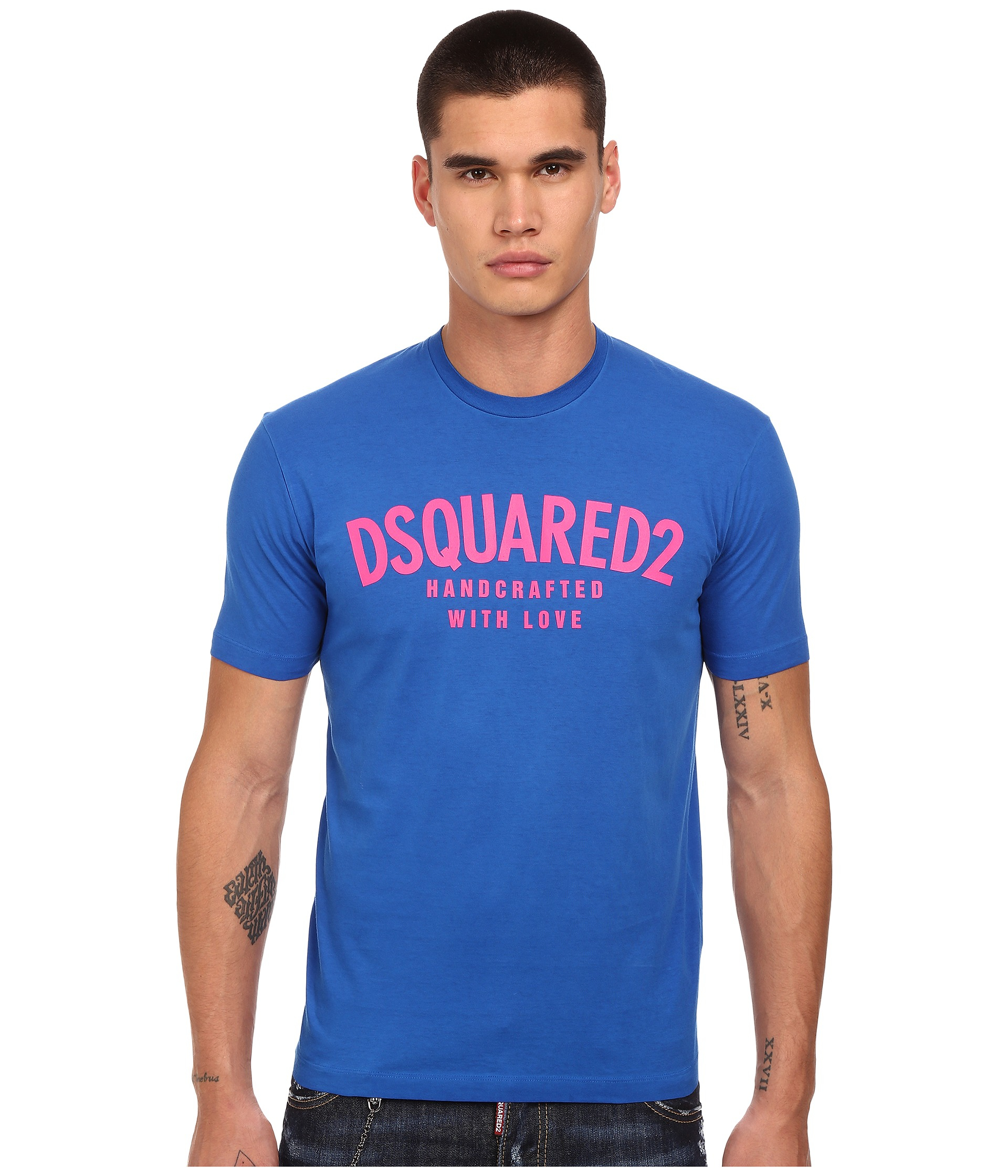 32b9051ab149 DSquared² Handcrafted With Love T-shirt in Blue for Men - Lyst