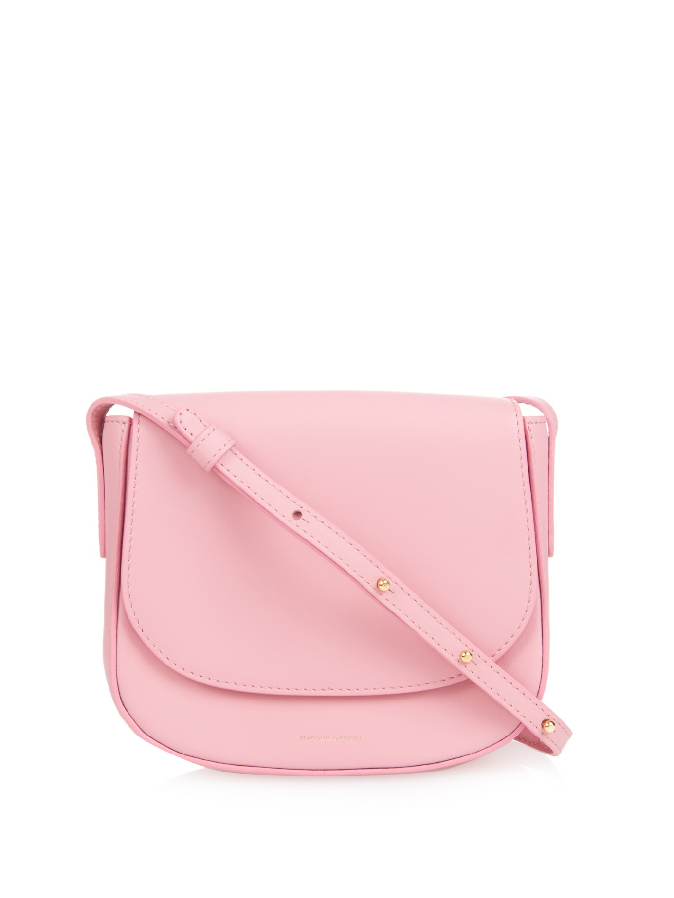 Mansur Gavriel Mini Calf-leather Cross-body Bag in Pink - Lyst f91f16ec5f61