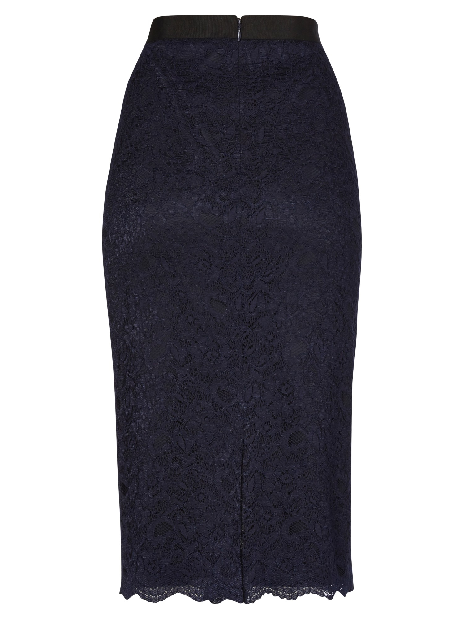 jaeger lace pencil skirt in blue navy lyst