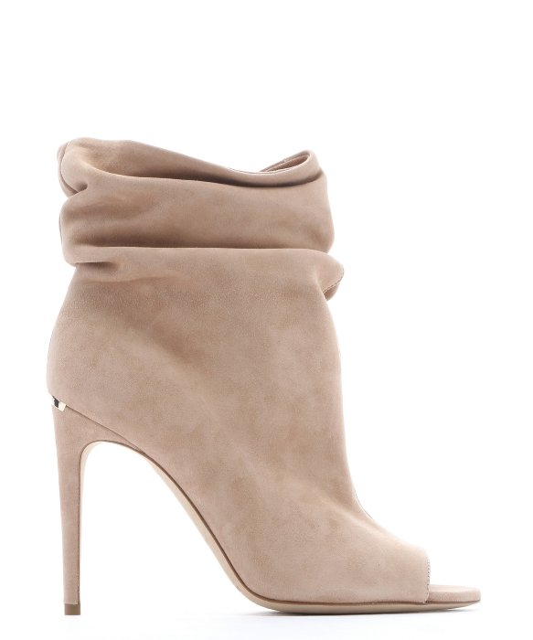 Burberry Camel Suede 'burlison' Peep Toe Ankle Booties in Natural ...