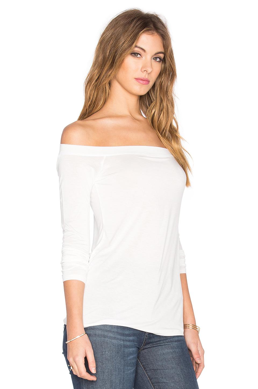 af783adfdea10 Lyst - Splendid Off The Shoulder Top in White