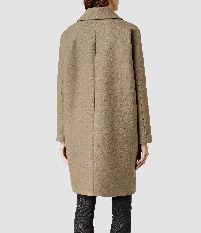 cf8146388 Lyst - AllSaints Ember Nesi Coat in Natural