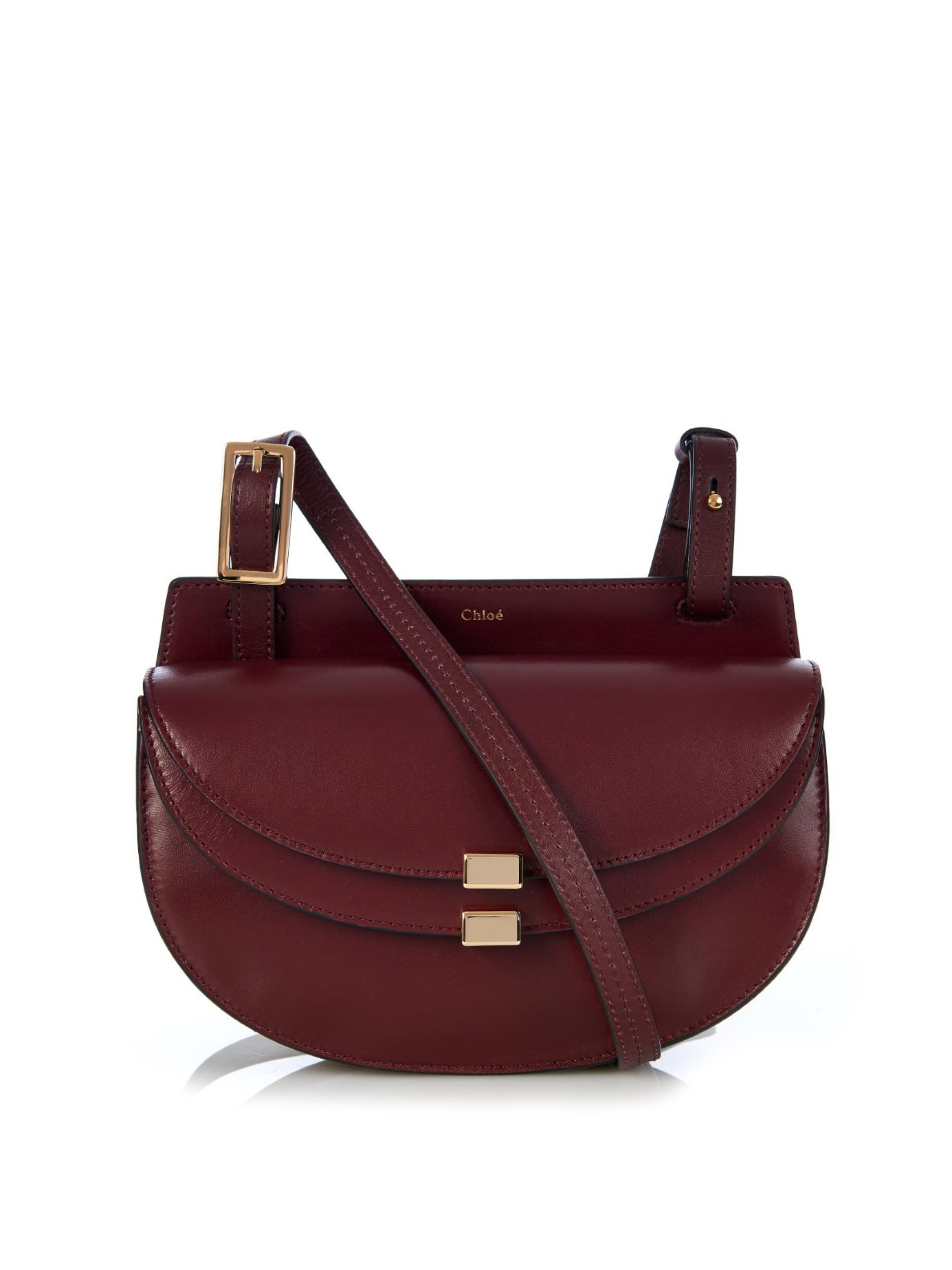 Lyst - Chloé Georgia Mini Leather Cross-Body Bag in Purple 90b0e76387