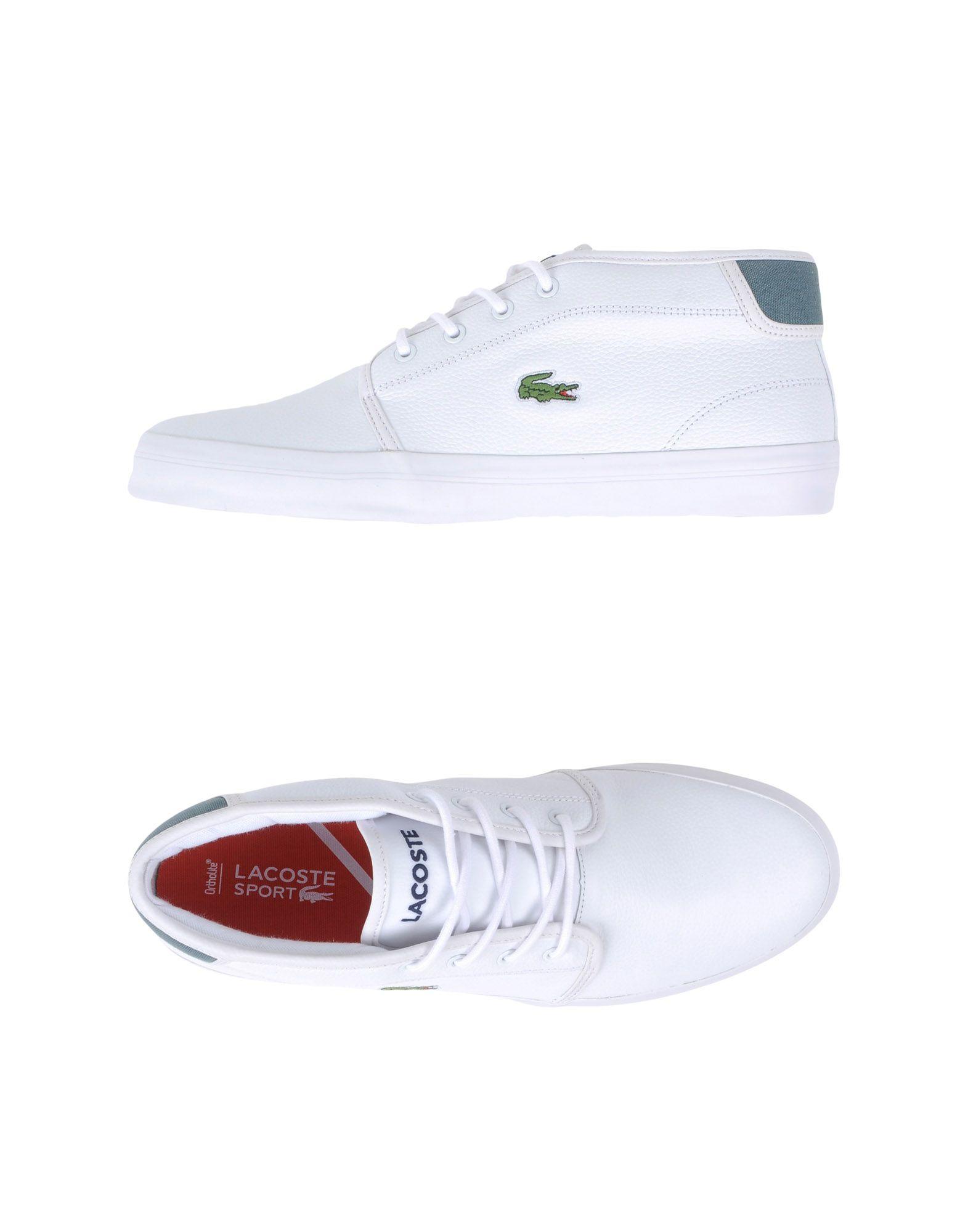 lacoste sport hightops amp sneakers in white lyst