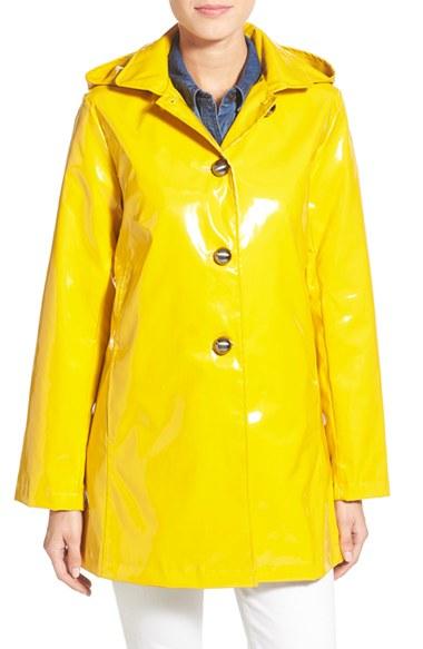 Jane Post Princess Rain Jacket In Yellow Lyst