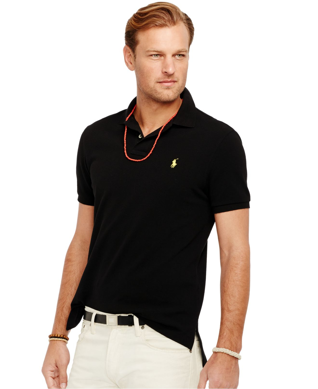 Lyst polo ralph lauren big and tall classic mesh polo for Tall ralph lauren polo shirts