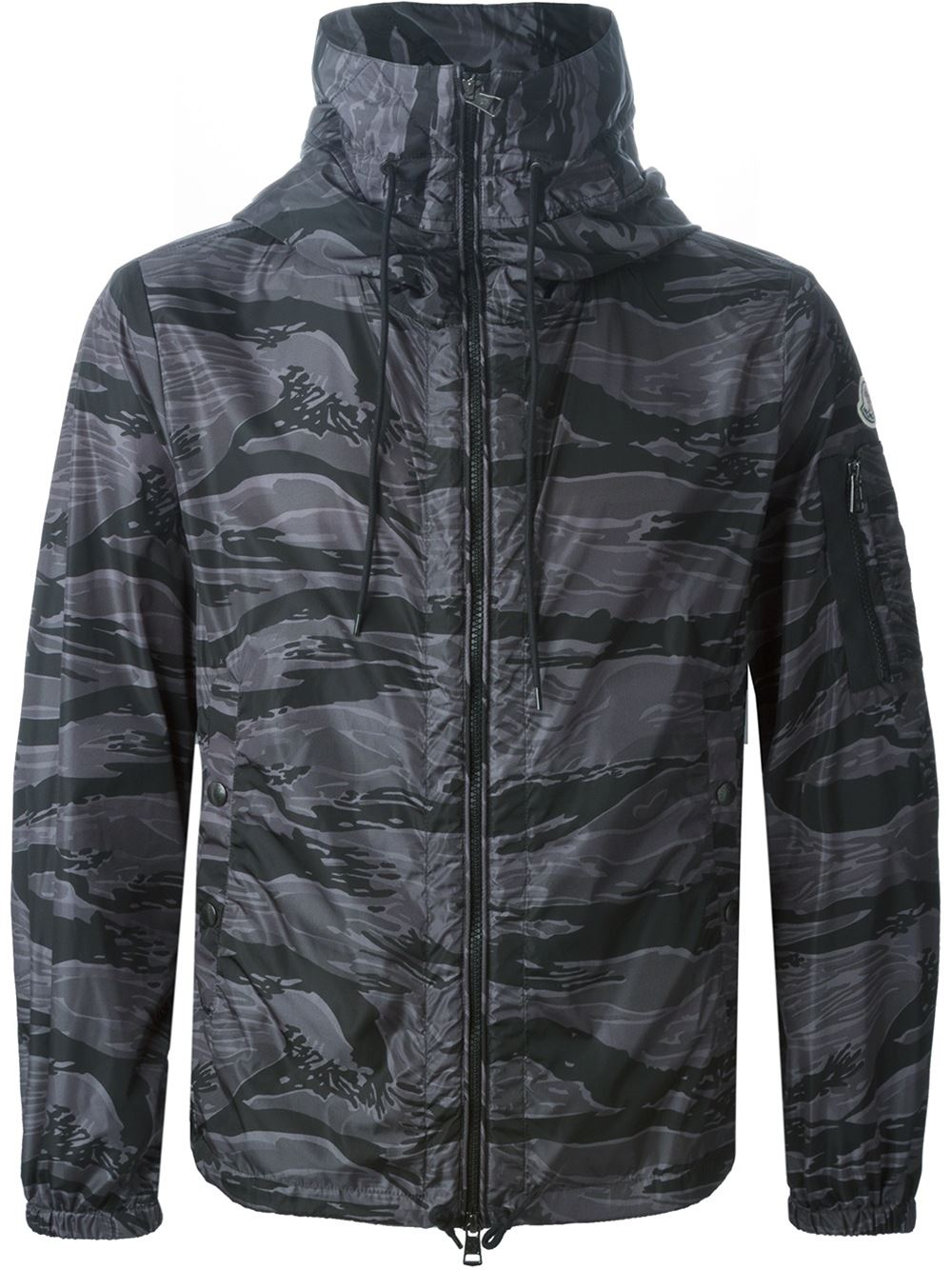 3957a01197d62 Moncler Camouflage Print Windbreaker in Black for Men - Lyst