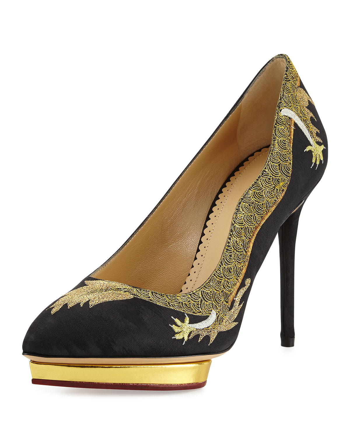 Gallery. Previously sold at  Bergdorf Goodman · Women s Charlotte Olympia  Debbie ... 6ac046d6252