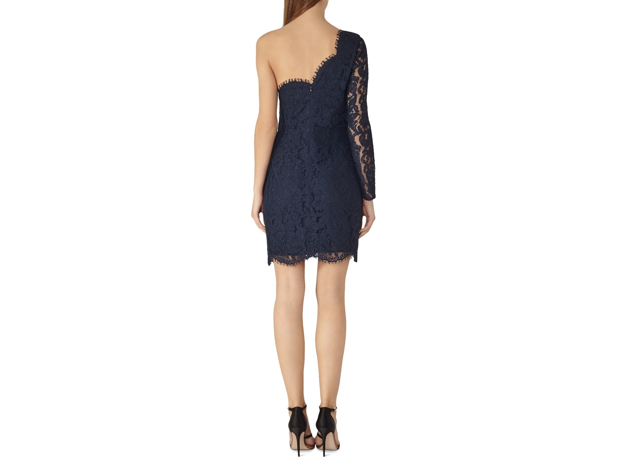 Reiss london navy lace dress