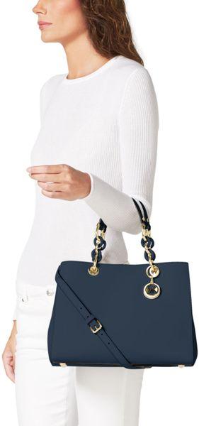 914ee709d791 michael kors cynthia satchel small selma large top zip satchel navy large  studded selma