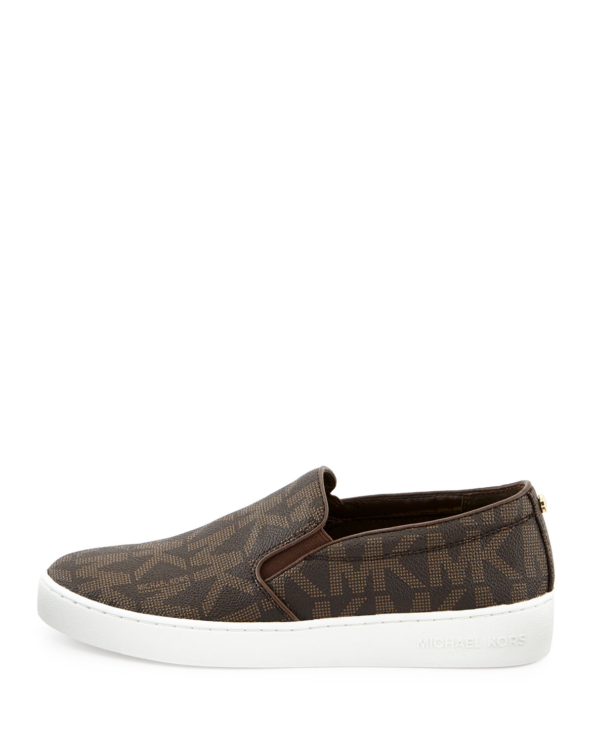 michael michael kors brown keaton slip on sneaker product 1 21033856 1. Black Bedroom Furniture Sets. Home Design Ideas