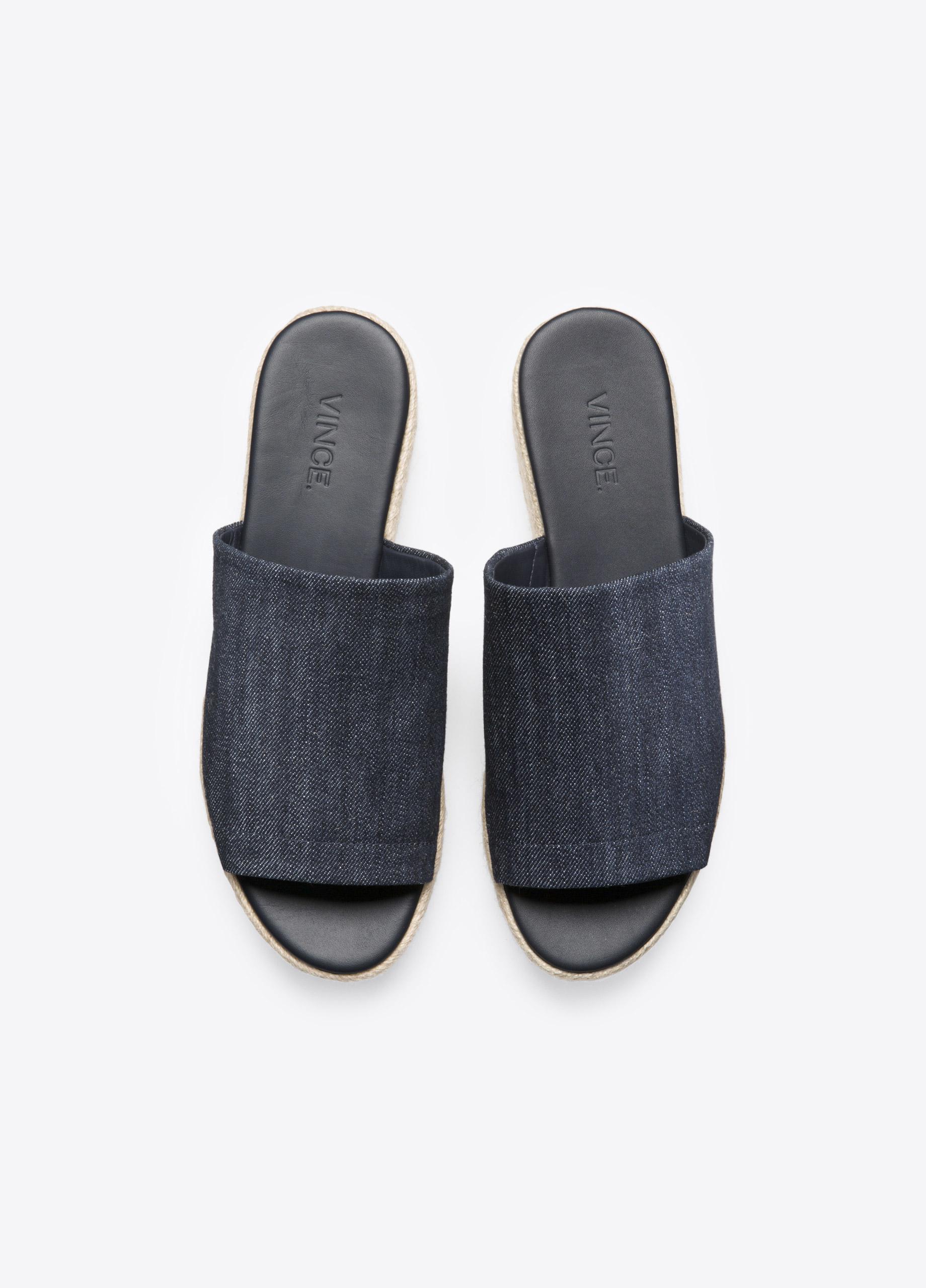 d99916a8318 Vince Solana Denim Espadrille Flatform Sandal in Blue - Lyst