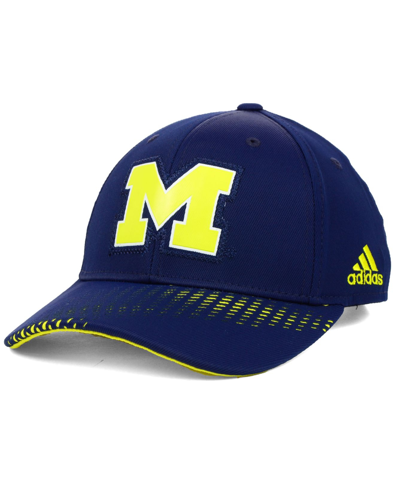 2edc7327550 Lyst - adidas Michigan Wolverines Ncaa Adjustable Cap in Blue for Men