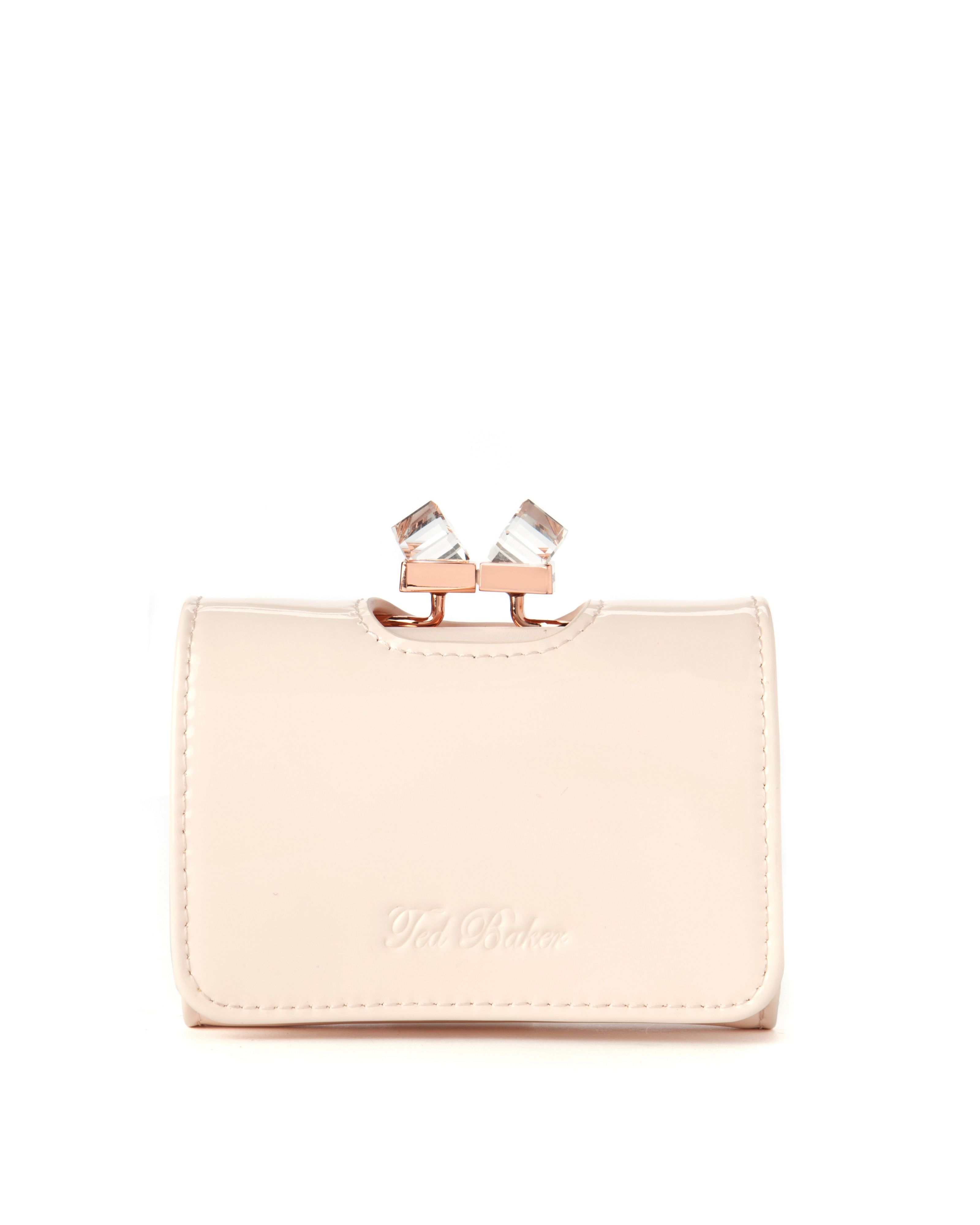 5555c53fb62d ... Small Patent Crystal Frame Purse In Pink Lyst. Ted Baker Crystal Clasp  Purse Best Image Ccdbb