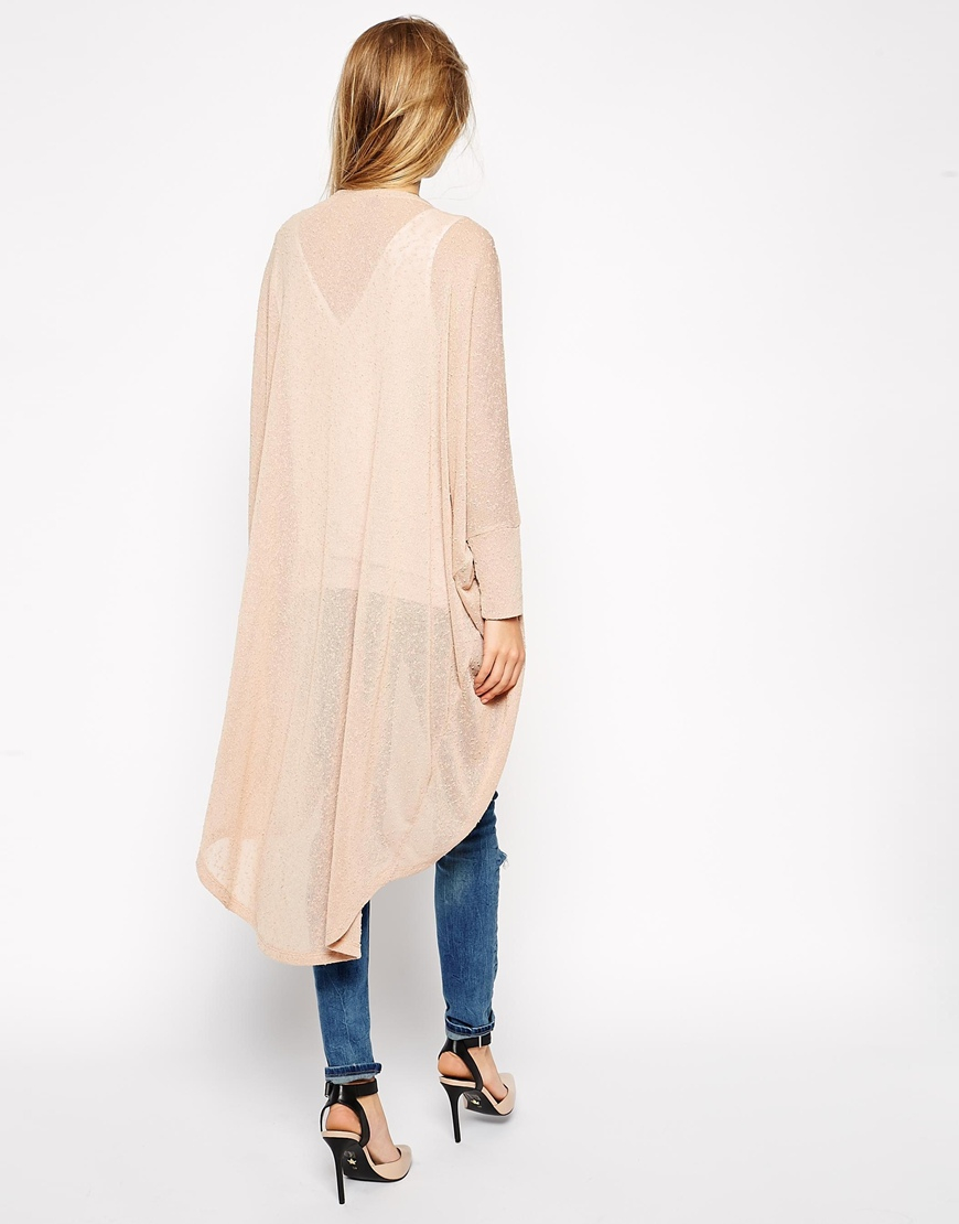 Asos Cocoon Cardigan In Longline in Natural   Lyst