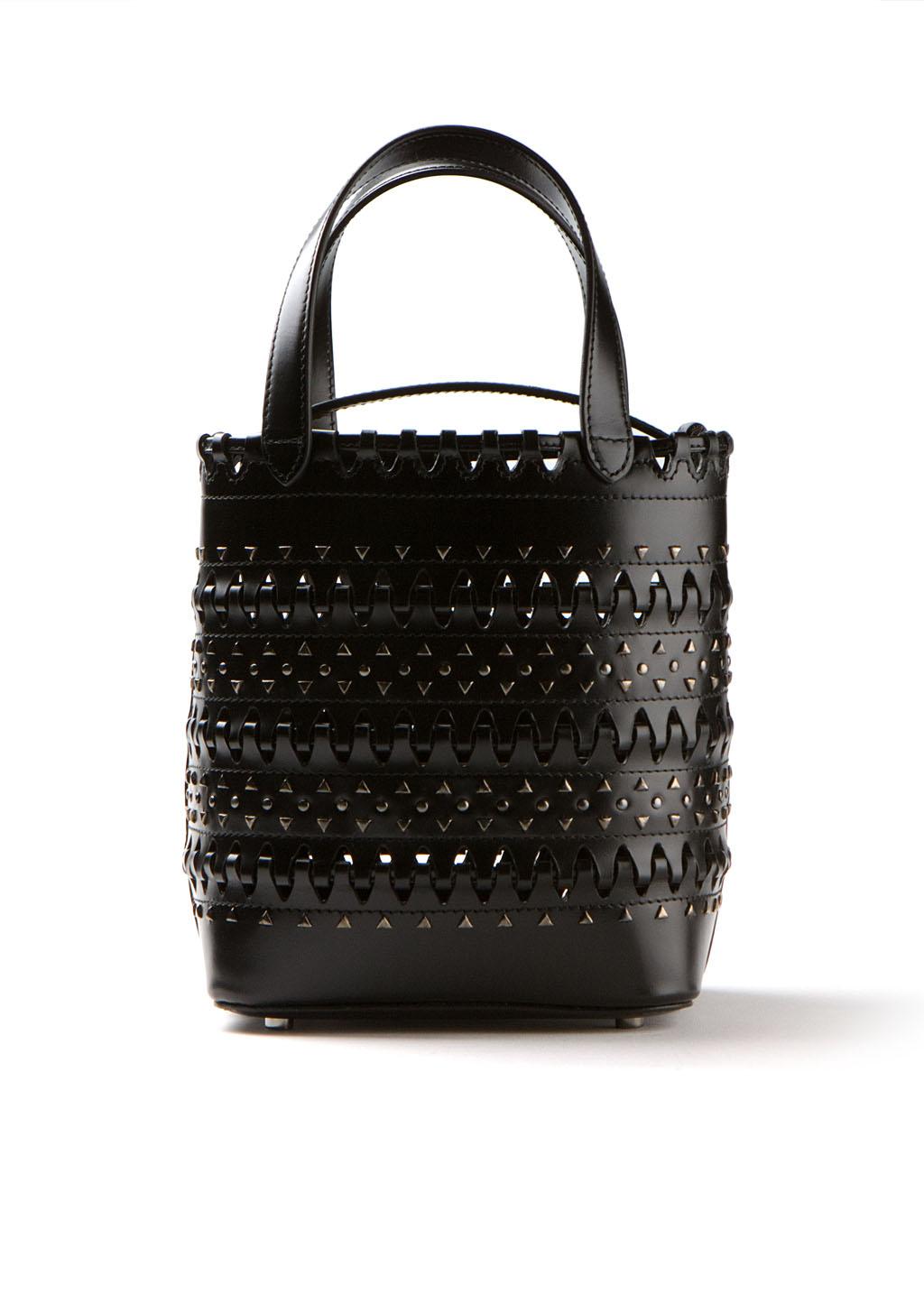 Ala 239 A Black Mini Shopping Bag In Black Lyst