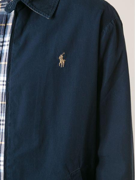 polo ralph lauren classic harrington jacket in blue for. Black Bedroom Furniture Sets. Home Design Ideas