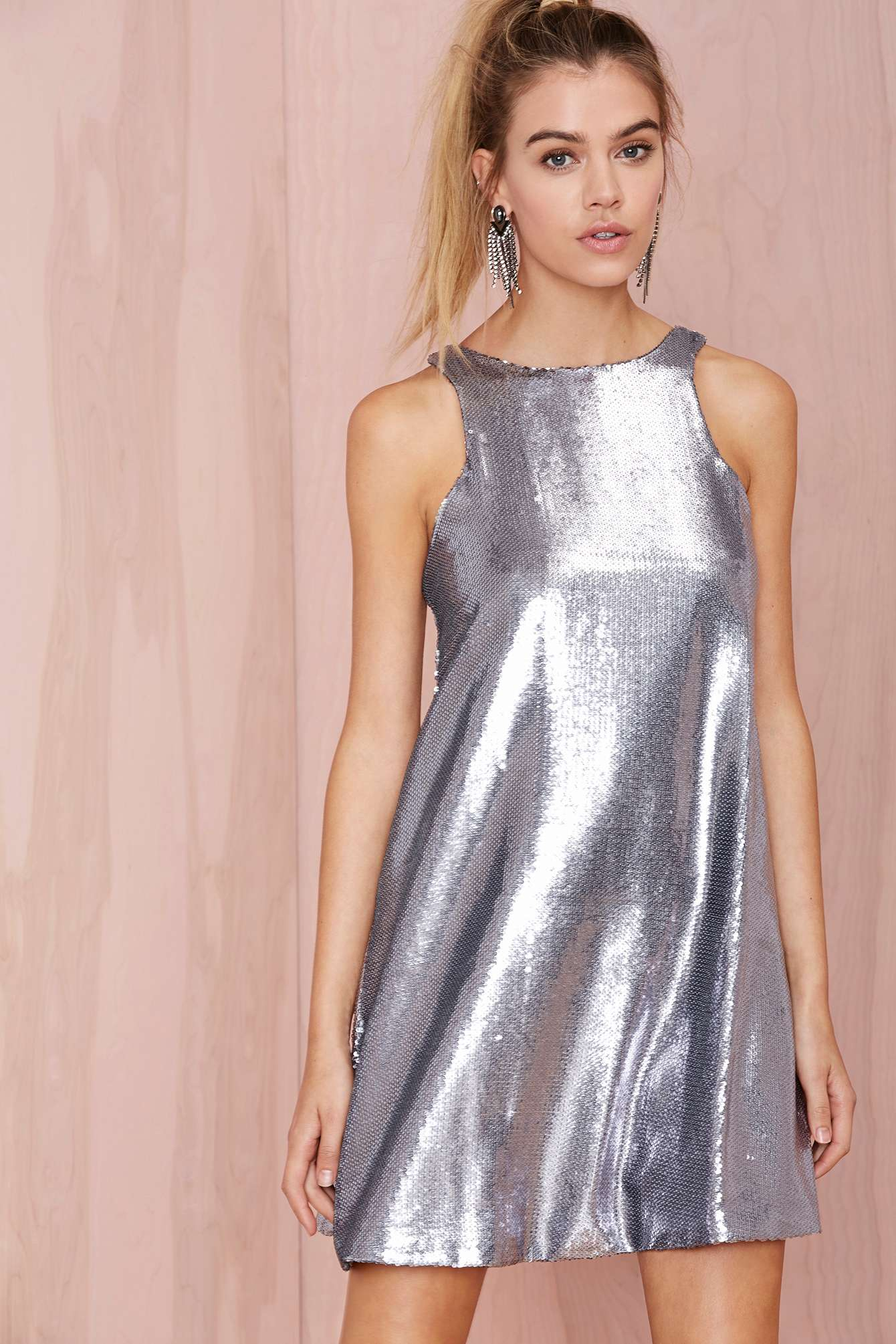Lyst - Nasty Gal Glamorous Countdown Sequin Shift Dress in ...