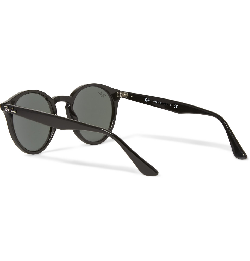 ray ban 2180 round frame acetate sunglasses in black for. Black Bedroom Furniture Sets. Home Design Ideas