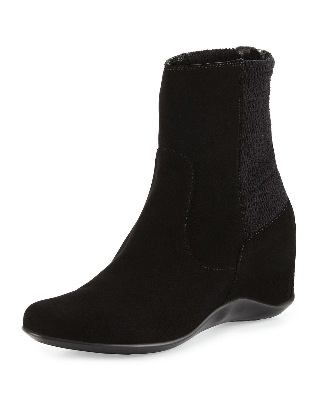 aquatalia by marvin k veronik suede ankle boot in black