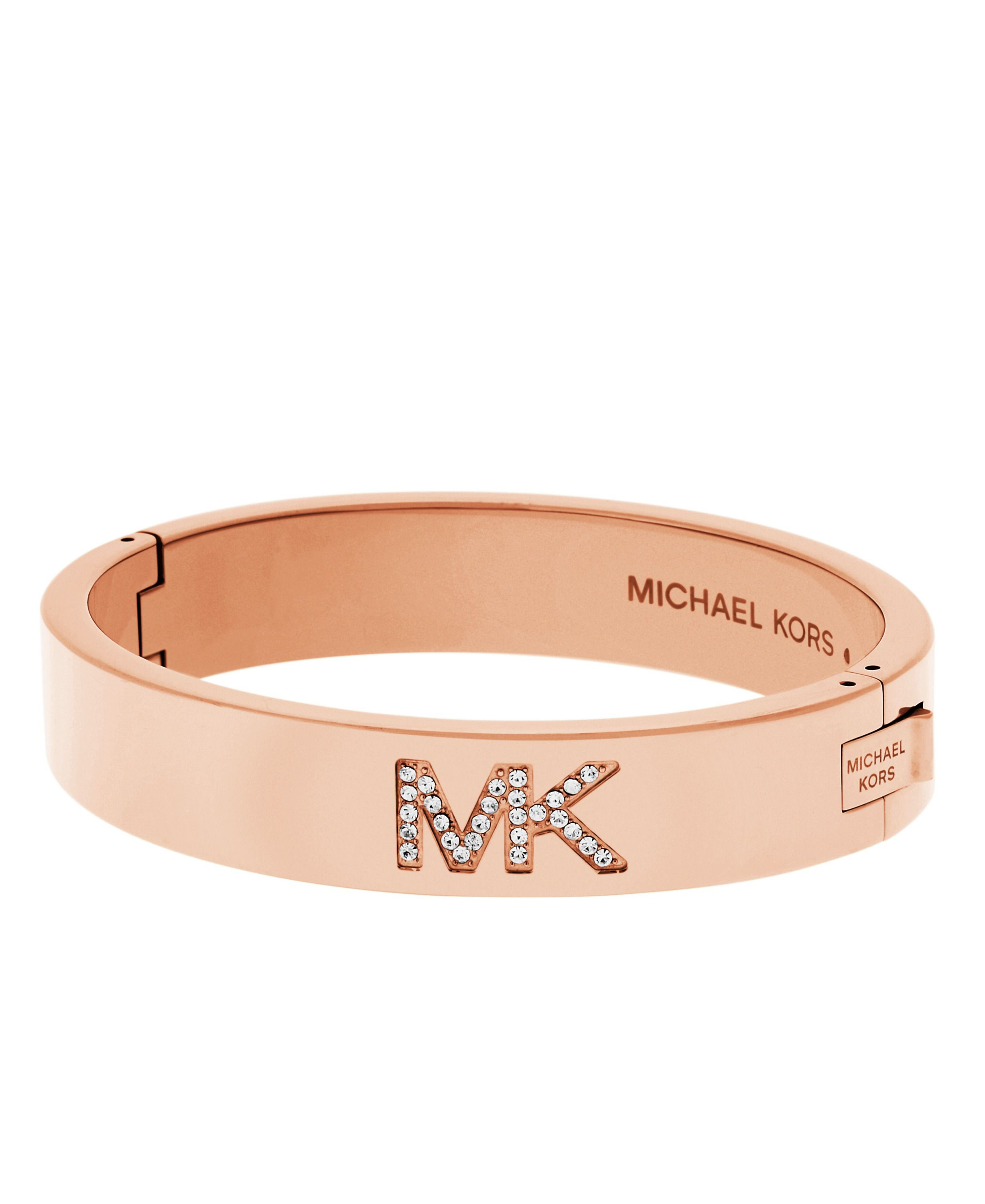 stainless michael toggle overstock kors product steel shipping rose logo charm crystal pave bracelet watches heart jewelry free goldtone today