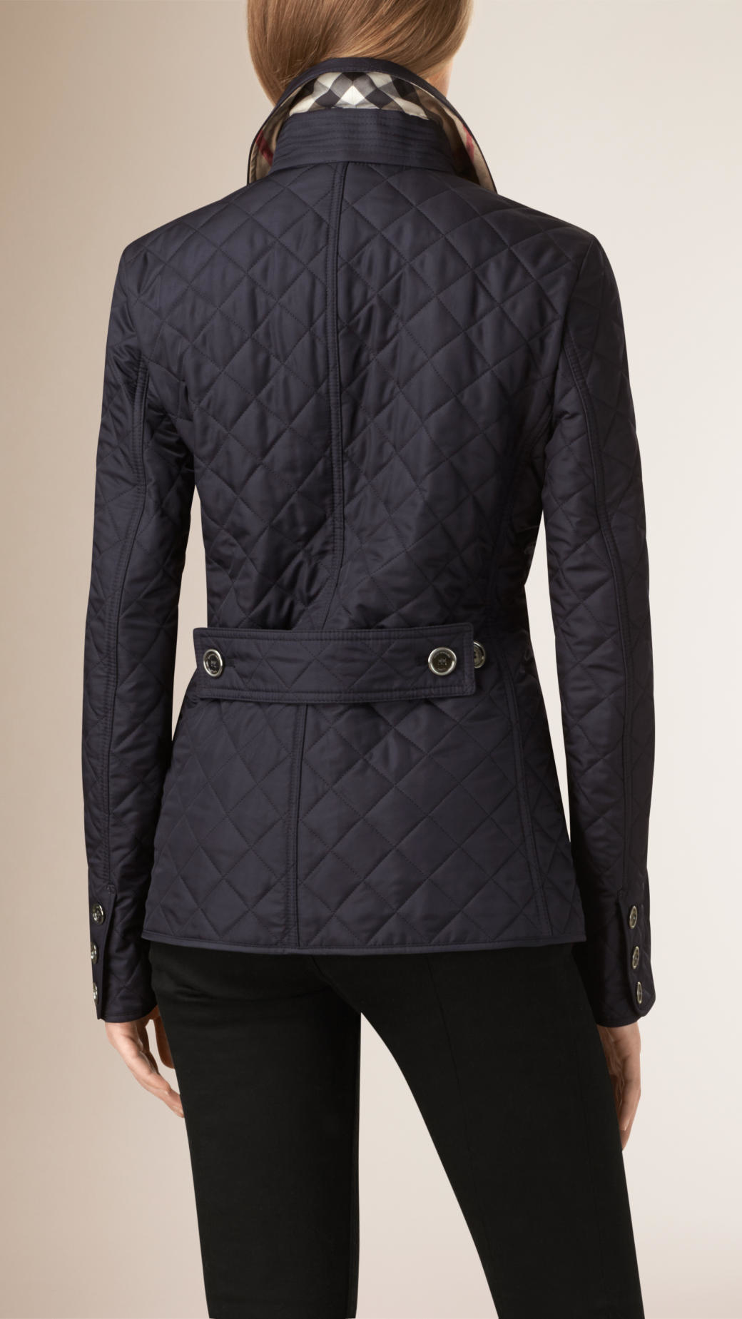 Burberry Diamond Quilted Jacket in Blue | Lyst : diamond quilted jacket burberry - Adamdwight.com