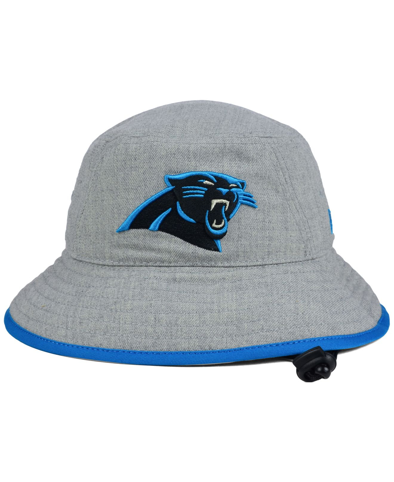 Lyst - KTZ Carolina Panthers Nfl Heather Gray Bucket Hat in Gray for Men 72abe2b4d