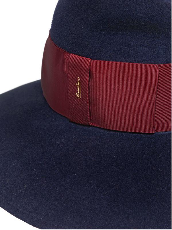 c3cb1f57a72 Lyst - Borsalino Velour Lapin Fur Felt Wide Brim Hat in Blue