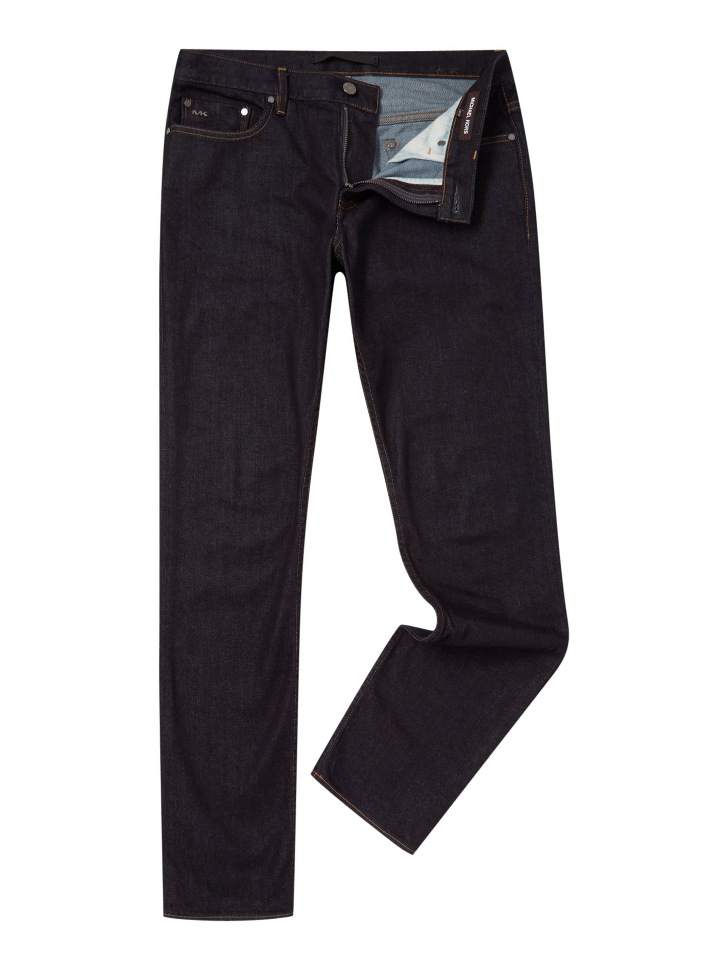 michael kors slim fit light indigo stretch jeans in blue for men lyst. Black Bedroom Furniture Sets. Home Design Ideas