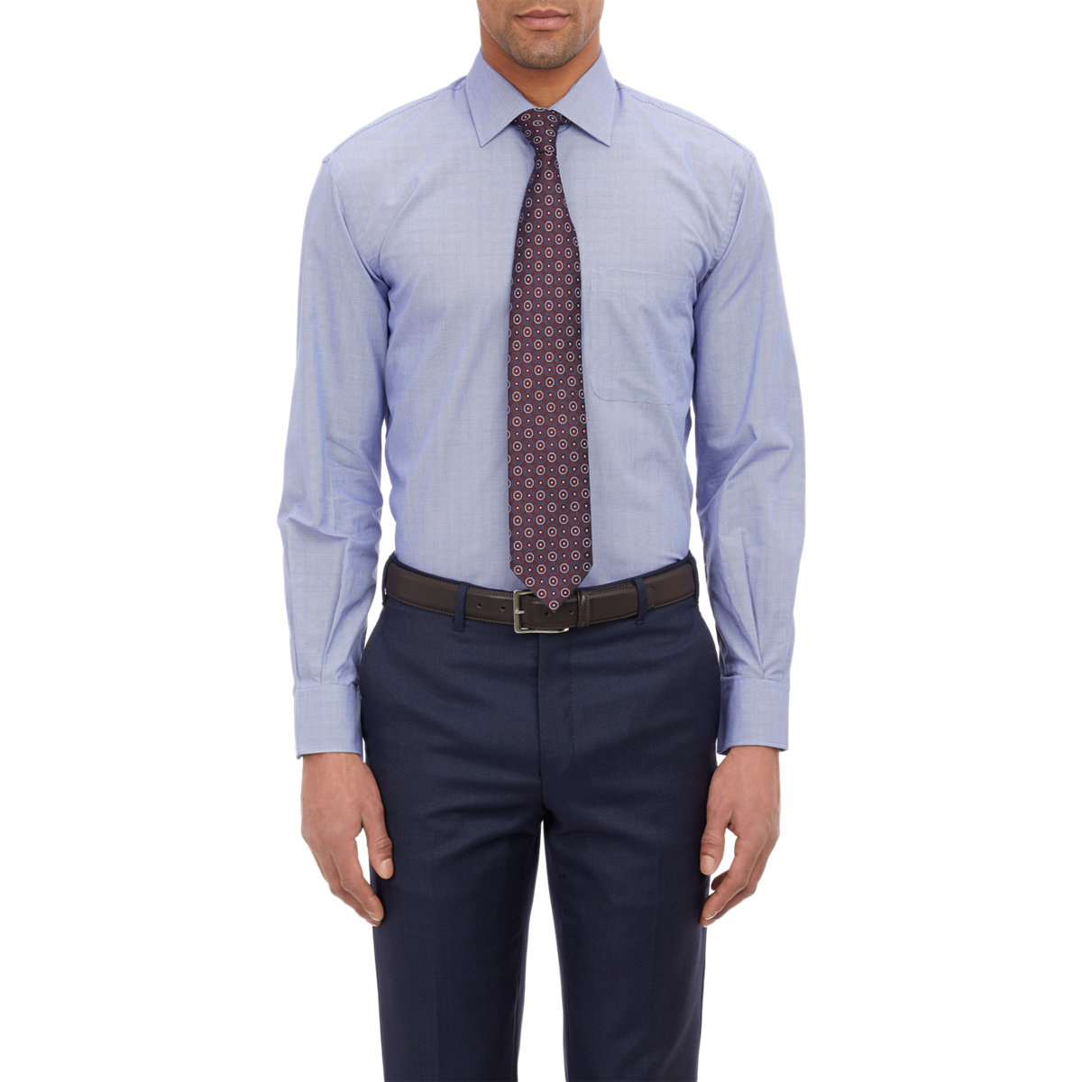 Lyst barneys new york micro pattern dress shirt in blue for New york and company dress shirts
